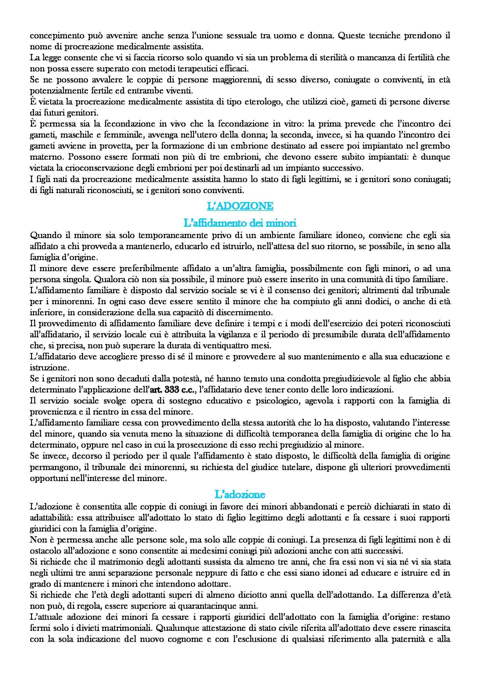 Riassunto esame Istituzioni di diritto privato, prof. Carnevali, libro consigliato Istituzioni di diritto privato, Trimarchi, 19 edizione Pag. 106