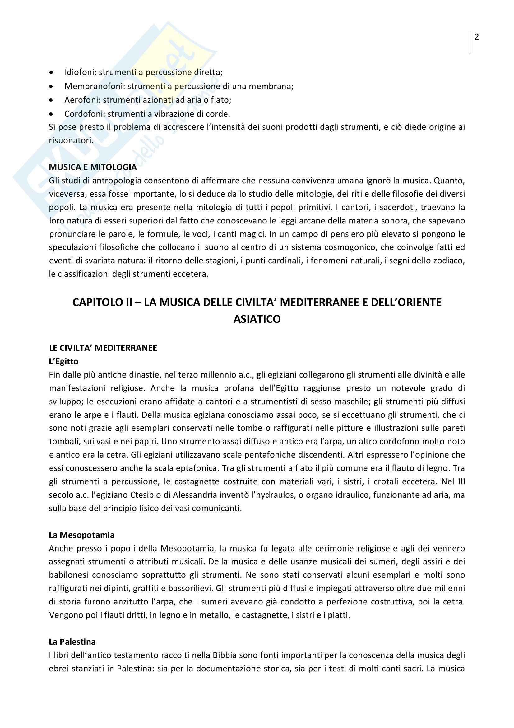Riassunto esame Storia Generale della Musica 1, prof. Fortunato, libro consigliato Nuova Storia della Musica, Allorto Pag. 2