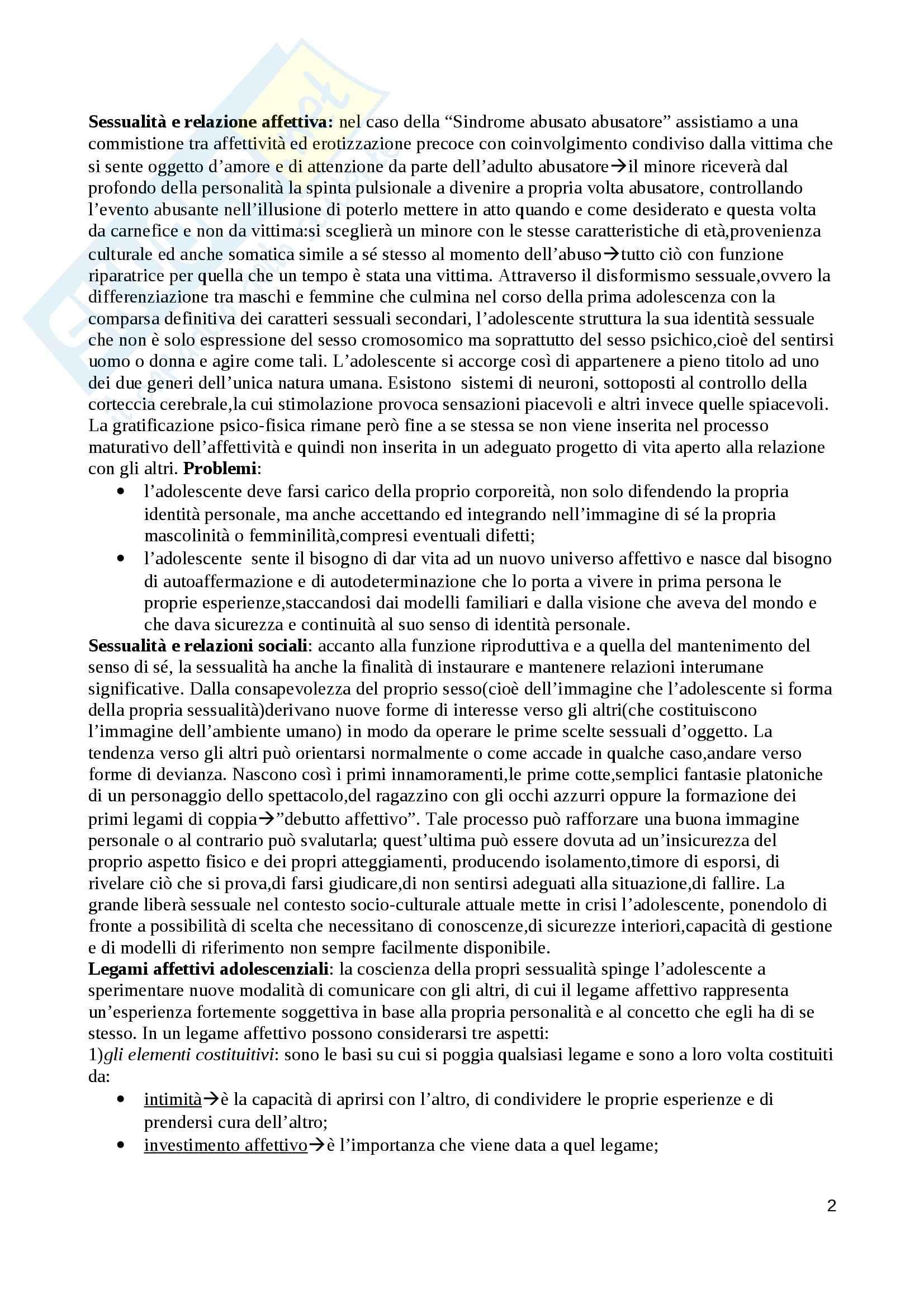 Riassunto esame Medicina preventiva e psicopatologia forense,prof.Villanova,libro consigliato Sindromi pedofile e sex offender dalla neuropsichiatria dell'età evolutiva alla pedagogia clinica e forense,Villanova Pag. 2