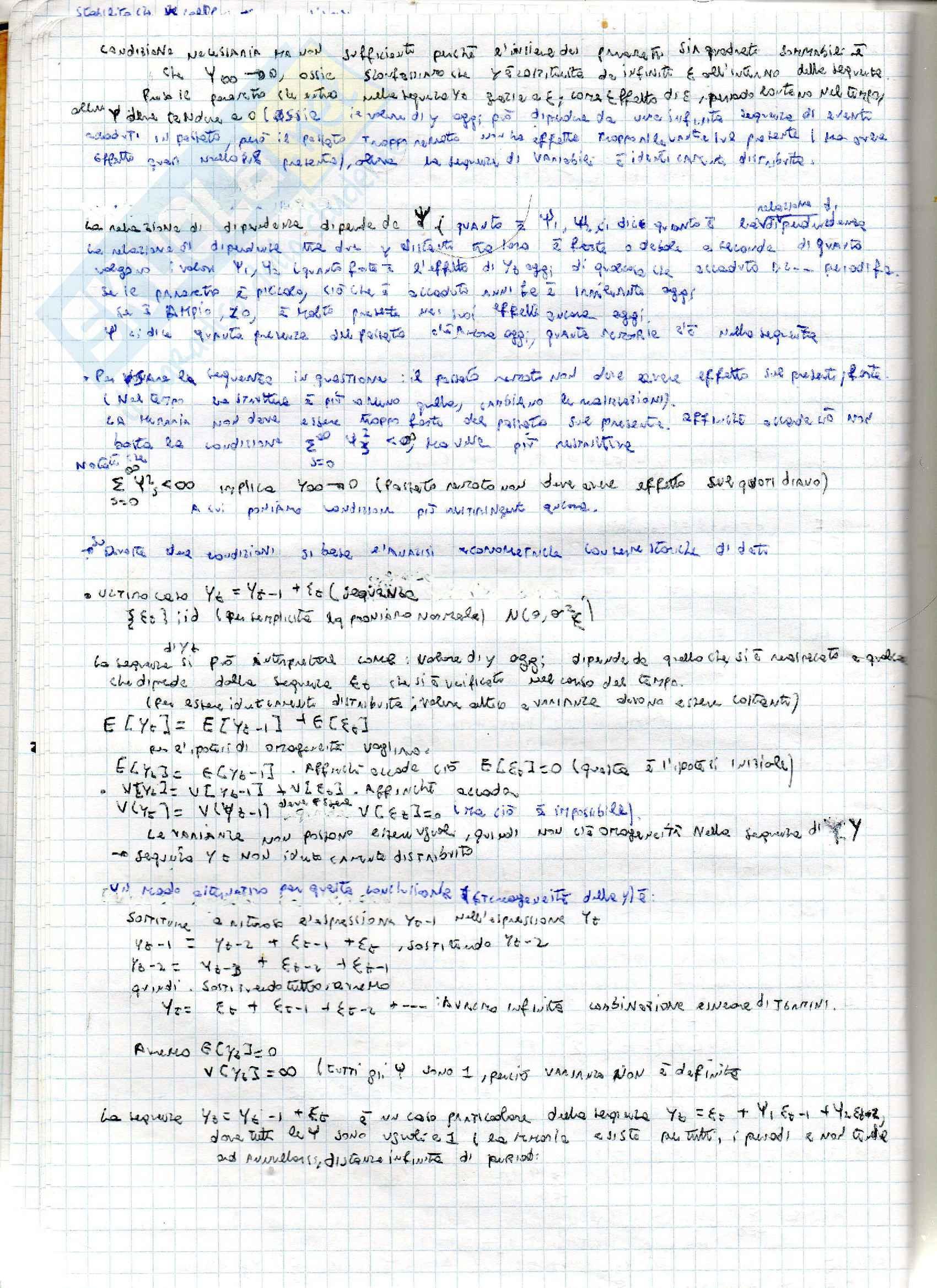 Riassunto per l'esame di econometria- serie storiche, prof. Acconcia Pag. 6