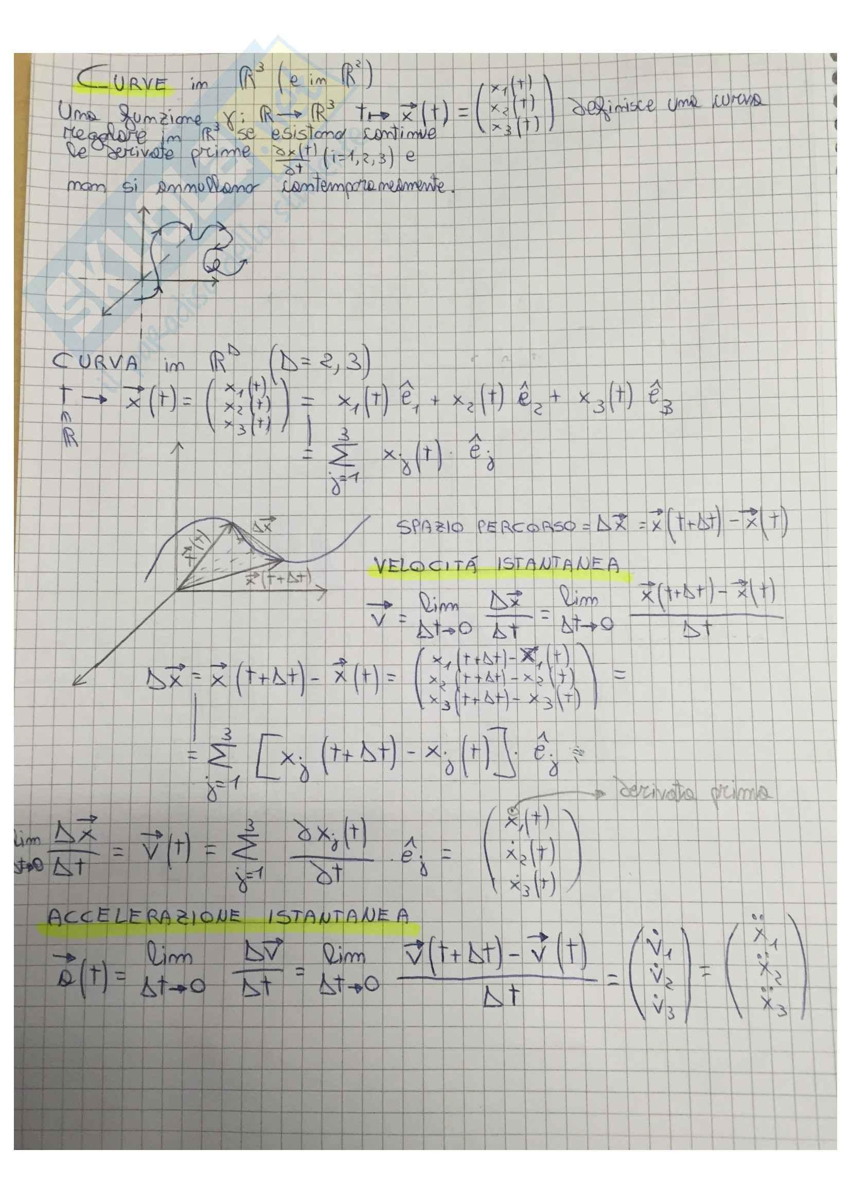 Lezioni, Meccanica Razionale