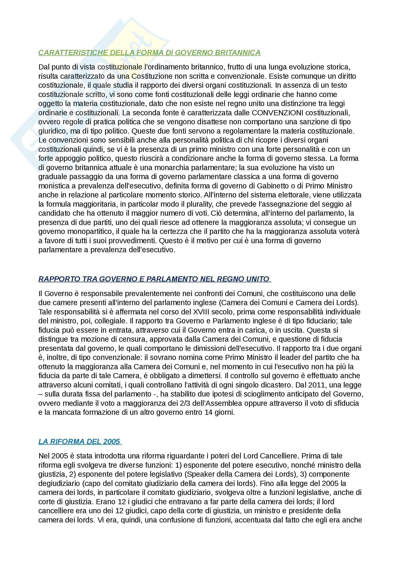 appunto G. Caravale Diritto costituzionale italiano e comparato