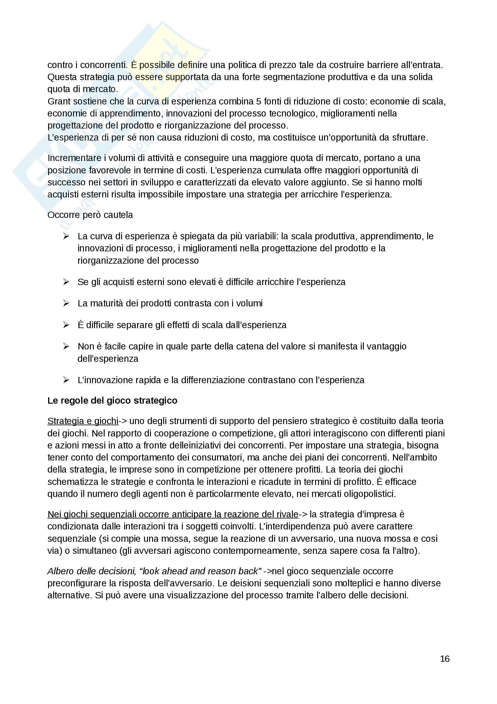 economia e gestione delle imprese Pag. 16