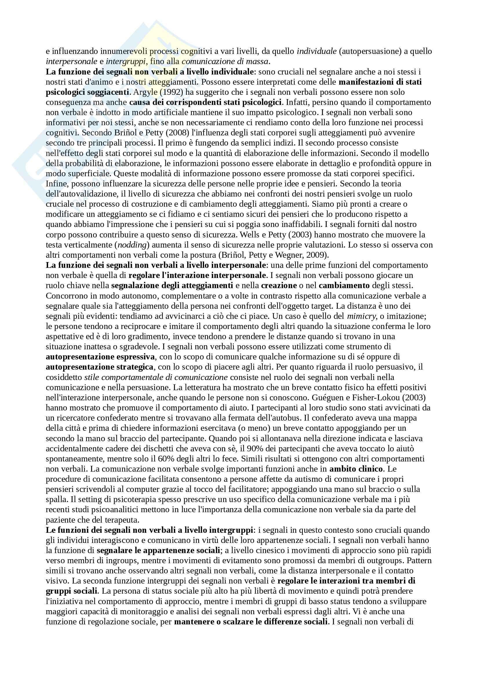Riassunto esame Comunicazione e Persuasione, prof. Arcuri, libro consigliato Introduzione alla psicologia della comunicazione, Lotto, Rumiati Pag. 6