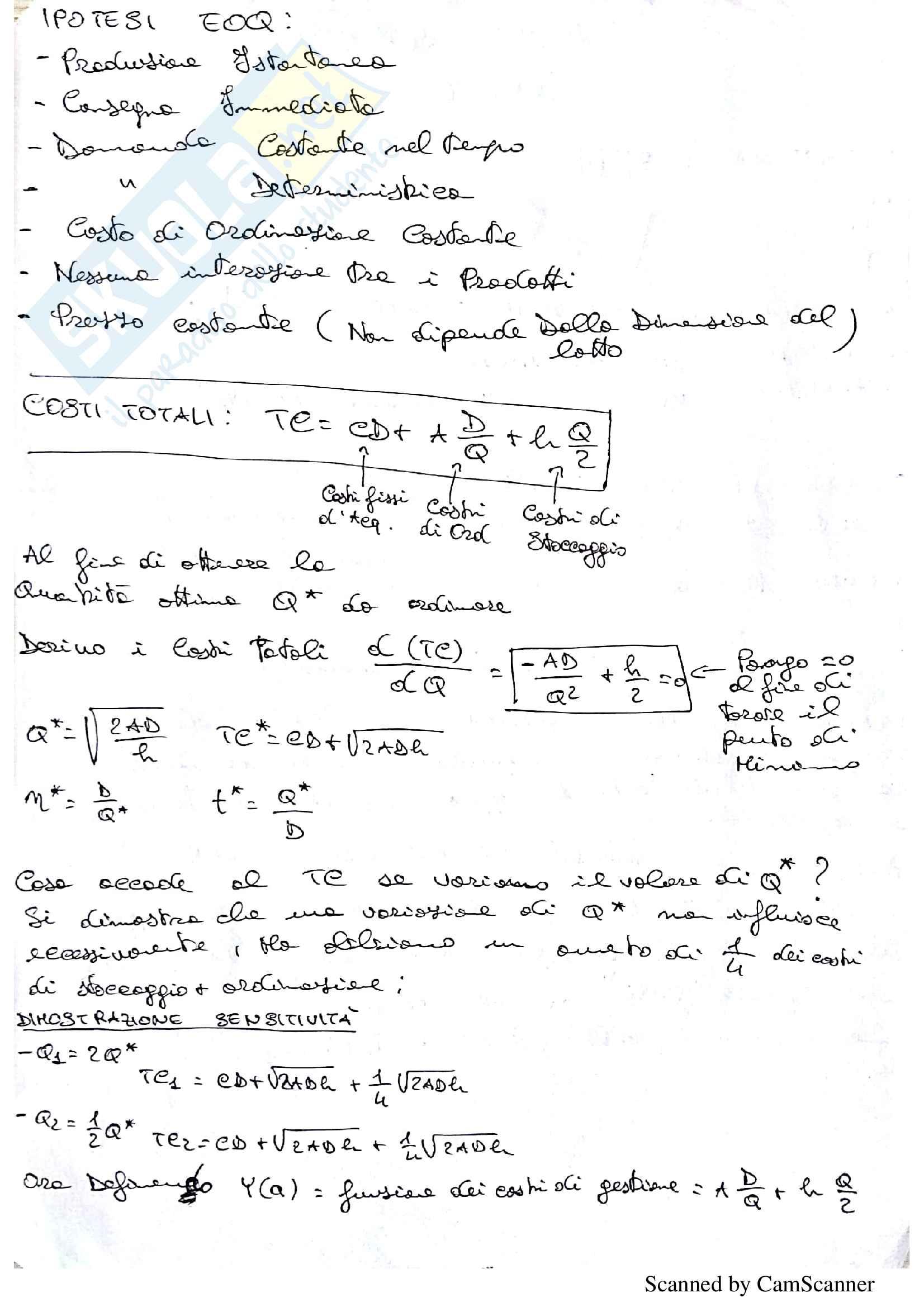 Programmazione e Gestione della Produzione P. Chiabert Appunti, Schemi riassuntivi, Esempi svolti Pag. 2
