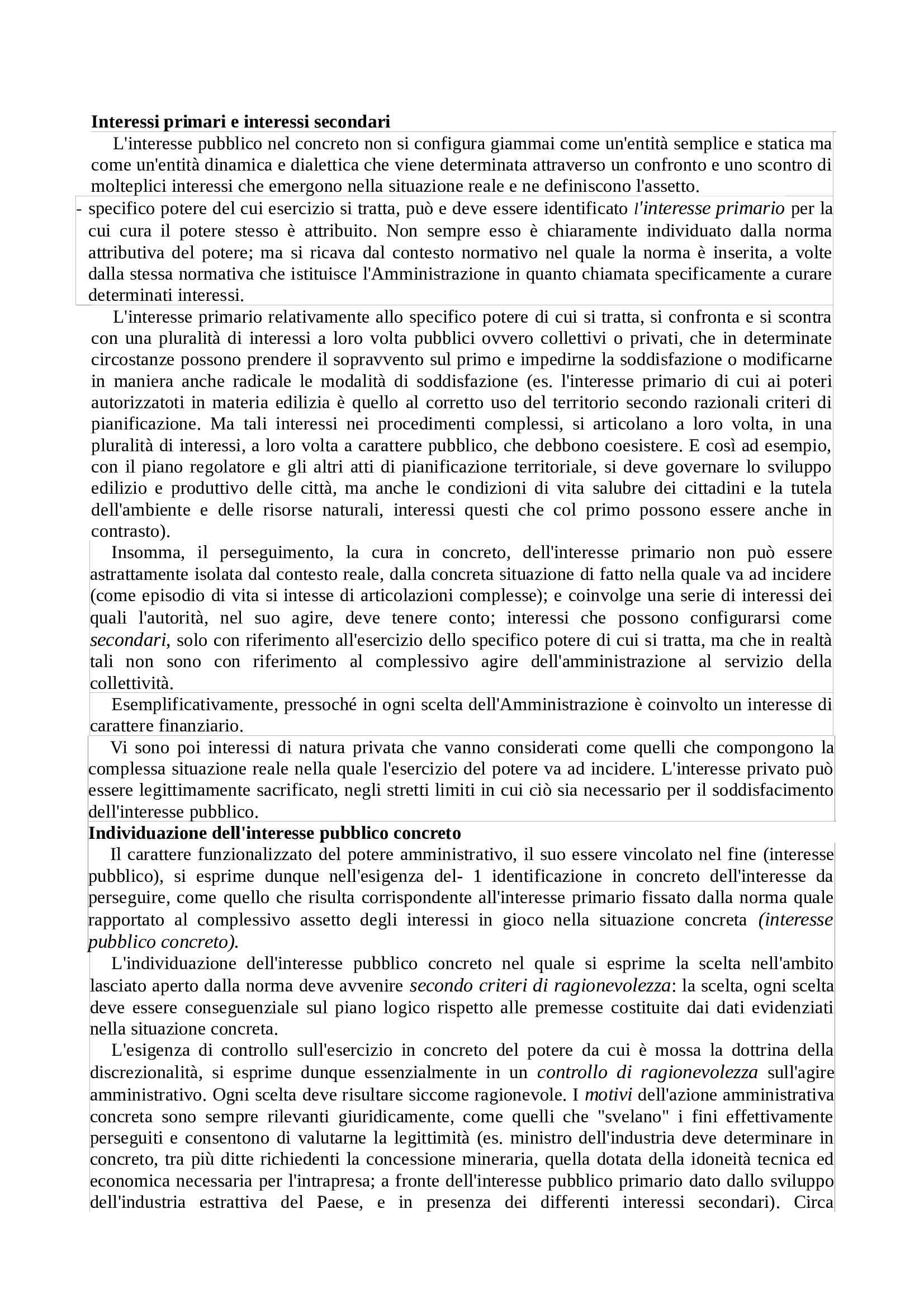 Diritto amministrativo - tipologie delle attività di amministrazione e principi generali Pag. 16