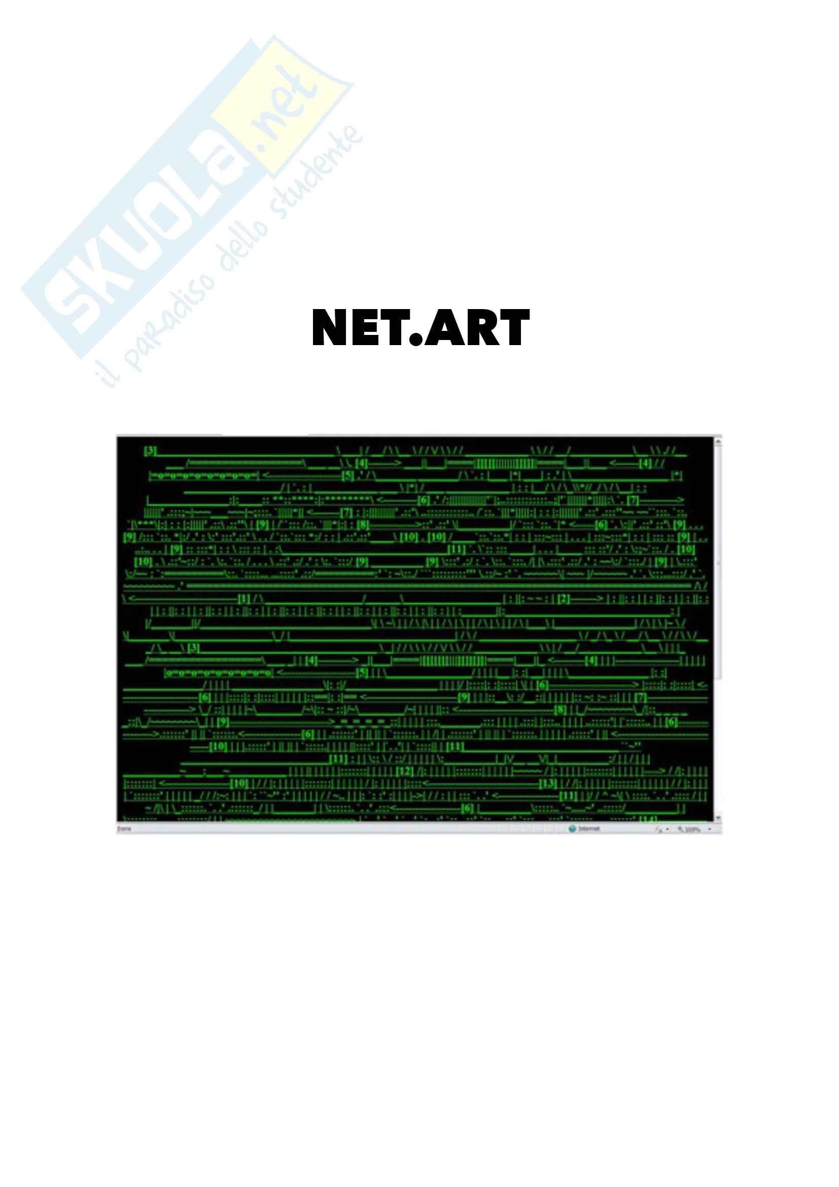 Teoria delle arti multimediali - elaborato Net.Art