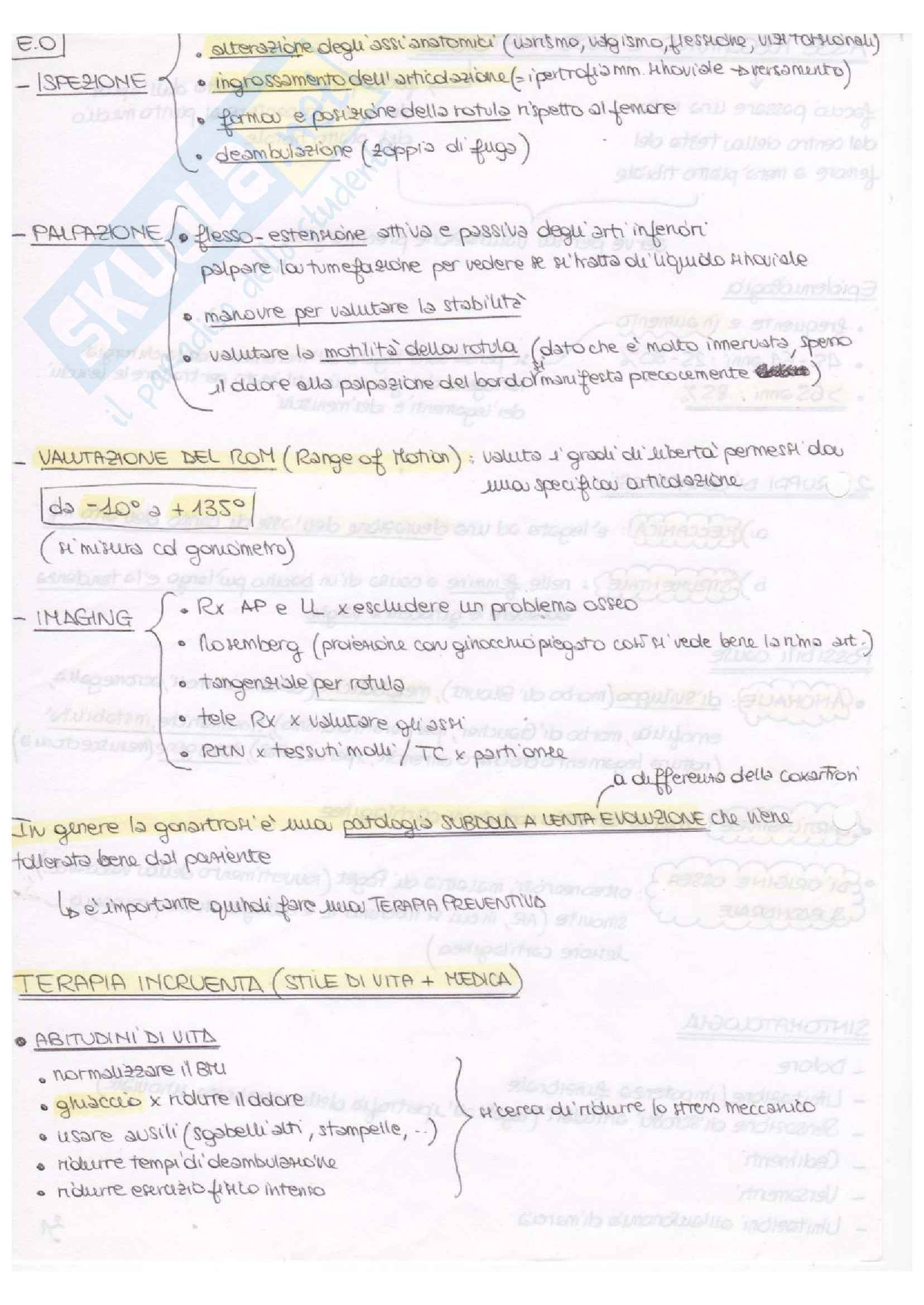Schemi di Ortopedia e Reumatologia Pag. 26
