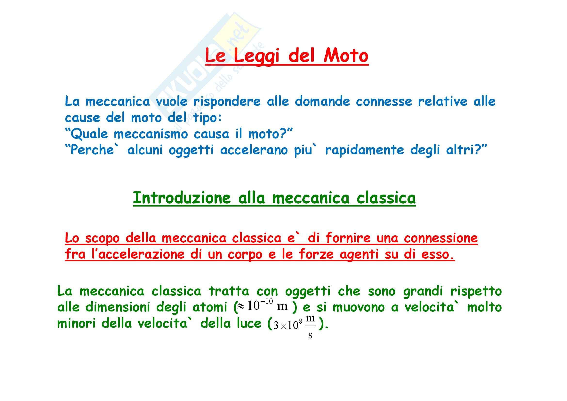 Fisica generale - la meccanica e le Leggi di Newton Pag. 2