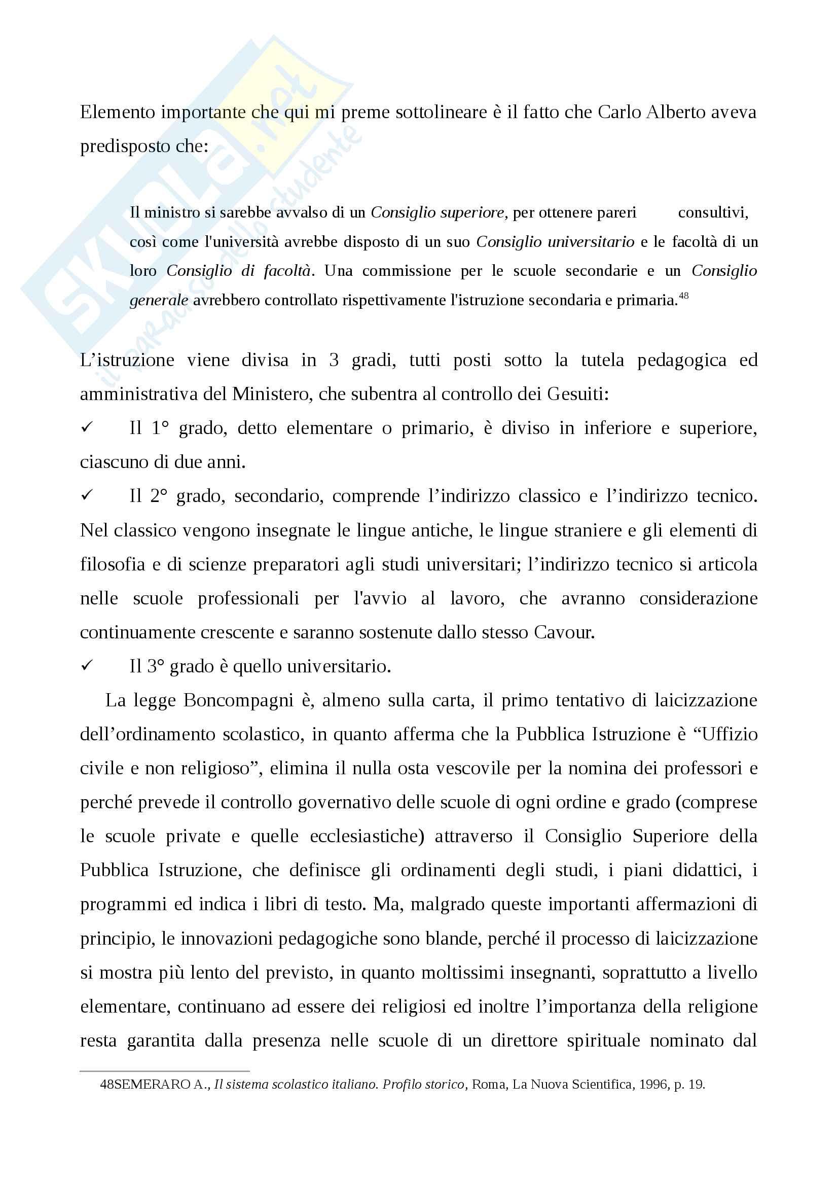 Storia della scuola italiana (legge Casati, Riforma Gentile) Pag. 16