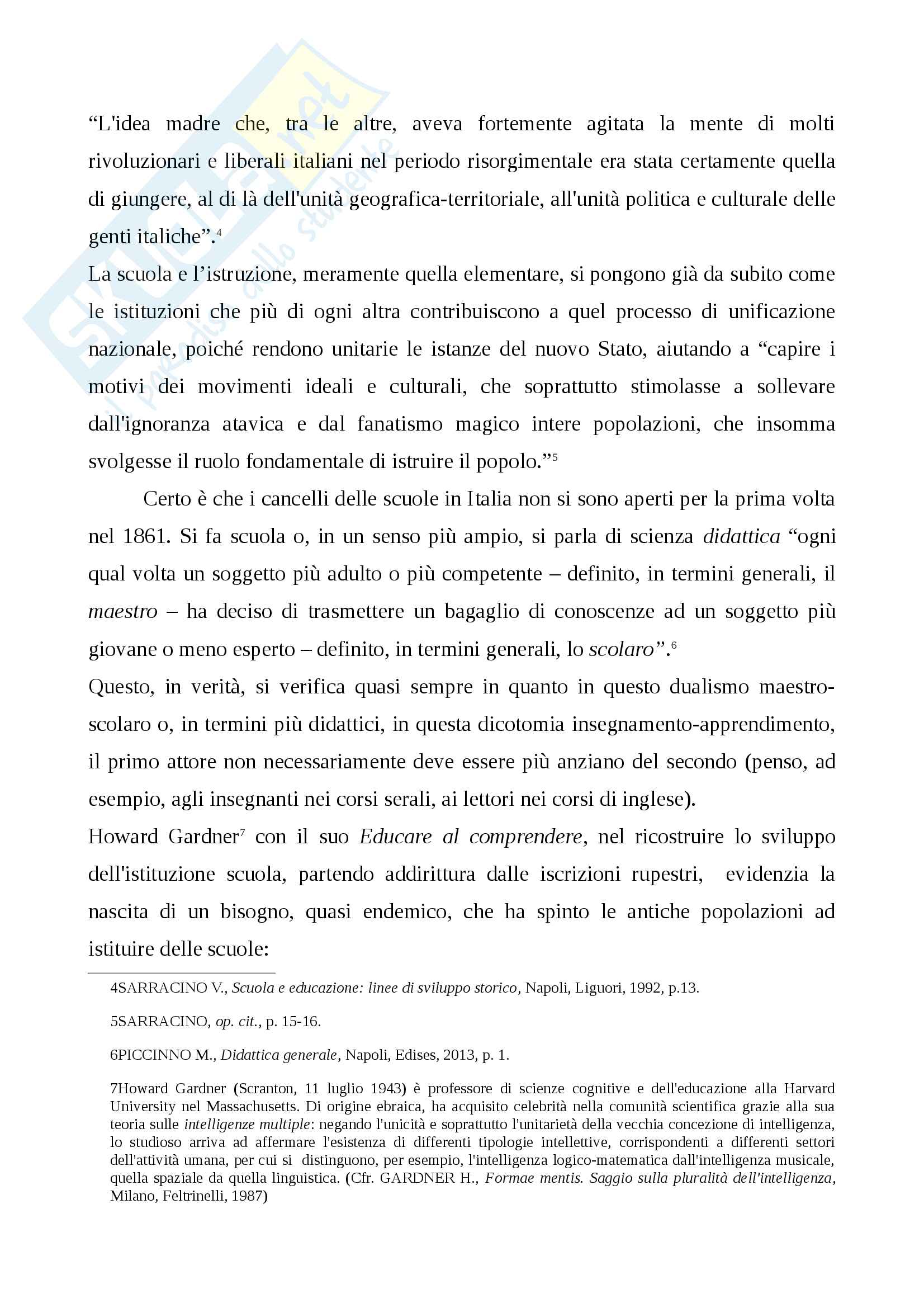Storia della scuola italiana (legge Casati, Riforma Gentile) Pag. 2