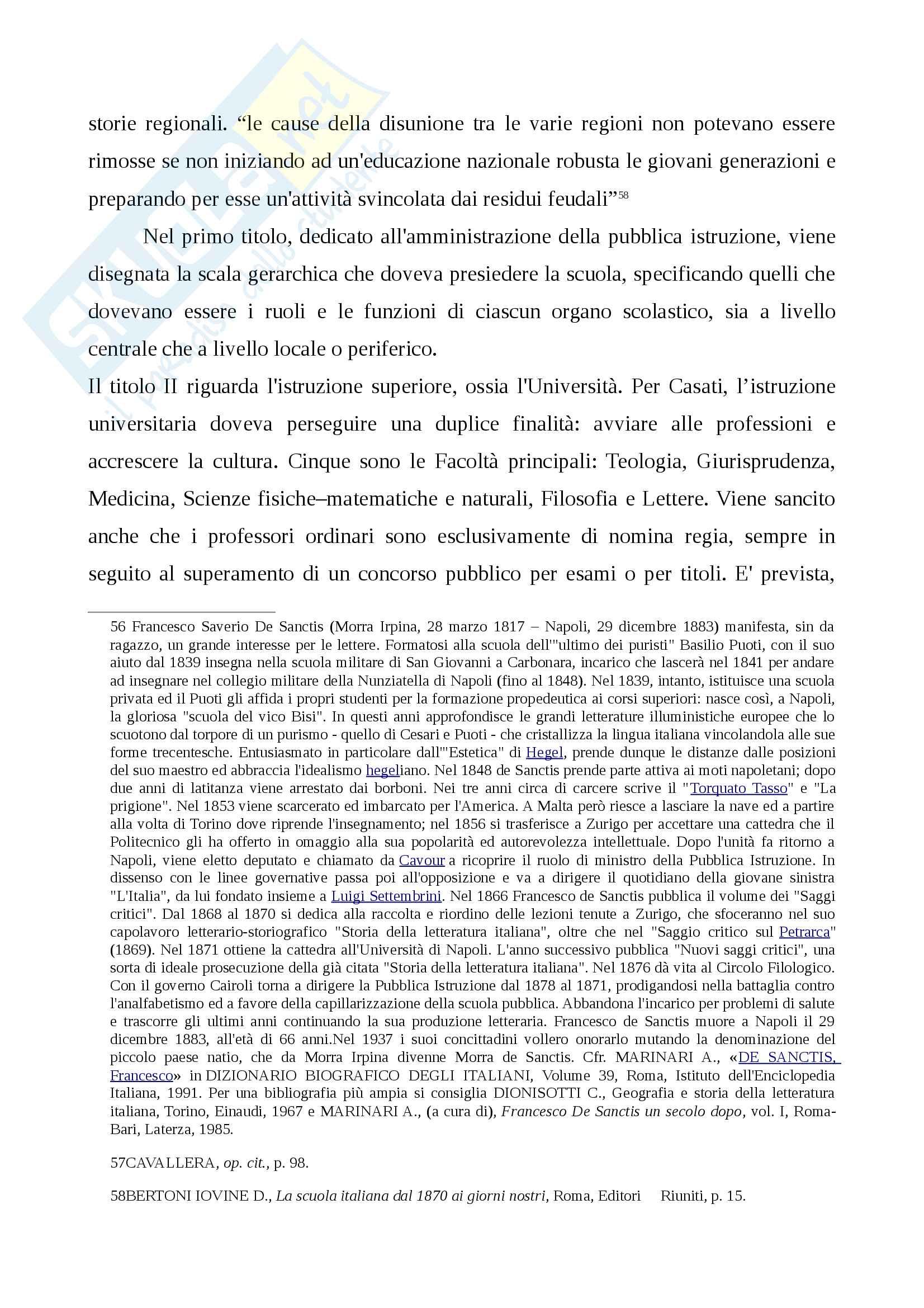 Storia della scuola italiana (legge Casati, Riforma Gentile) Pag. 21