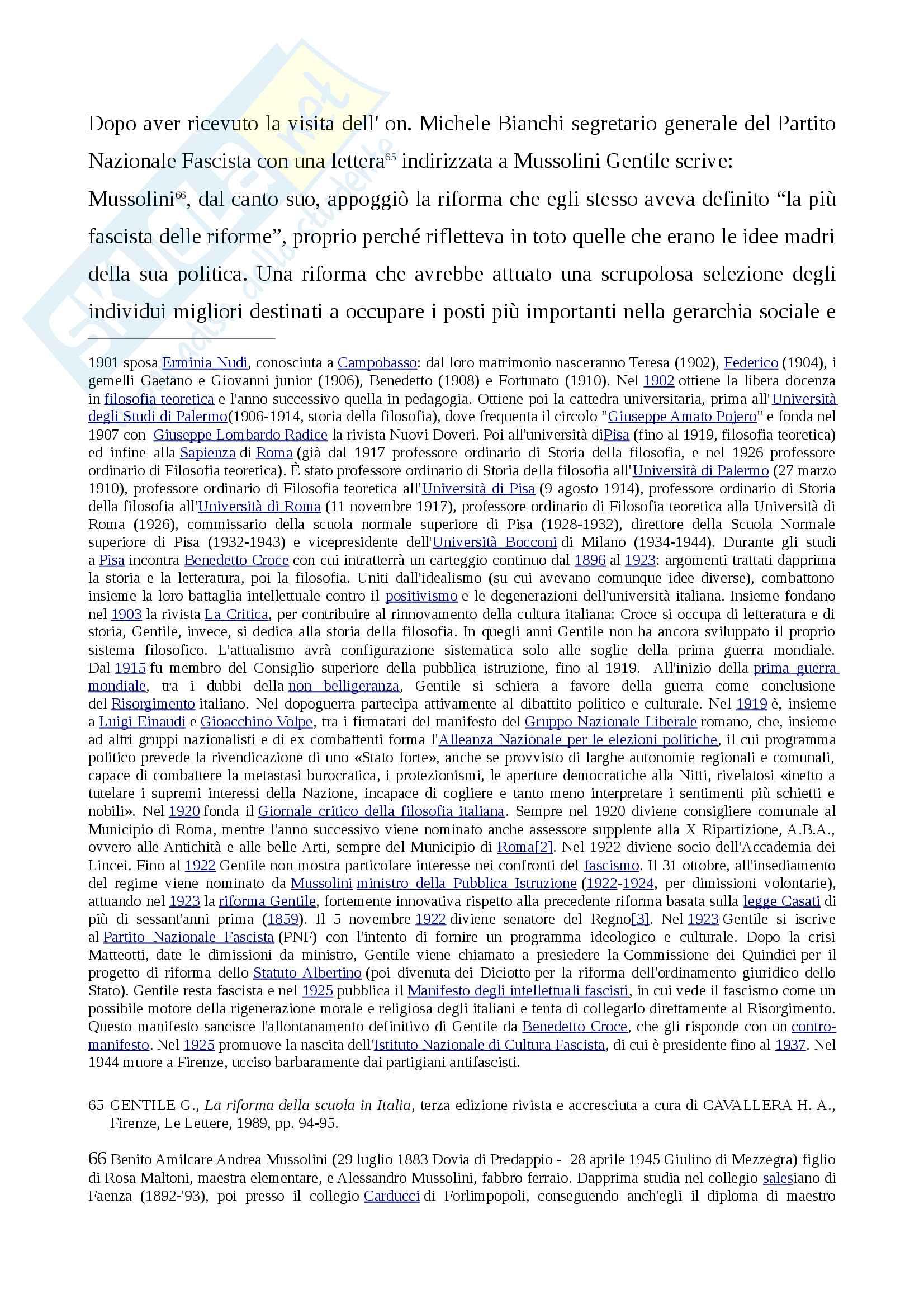 Storia della scuola italiana (legge Casati, Riforma Gentile) Pag. 26