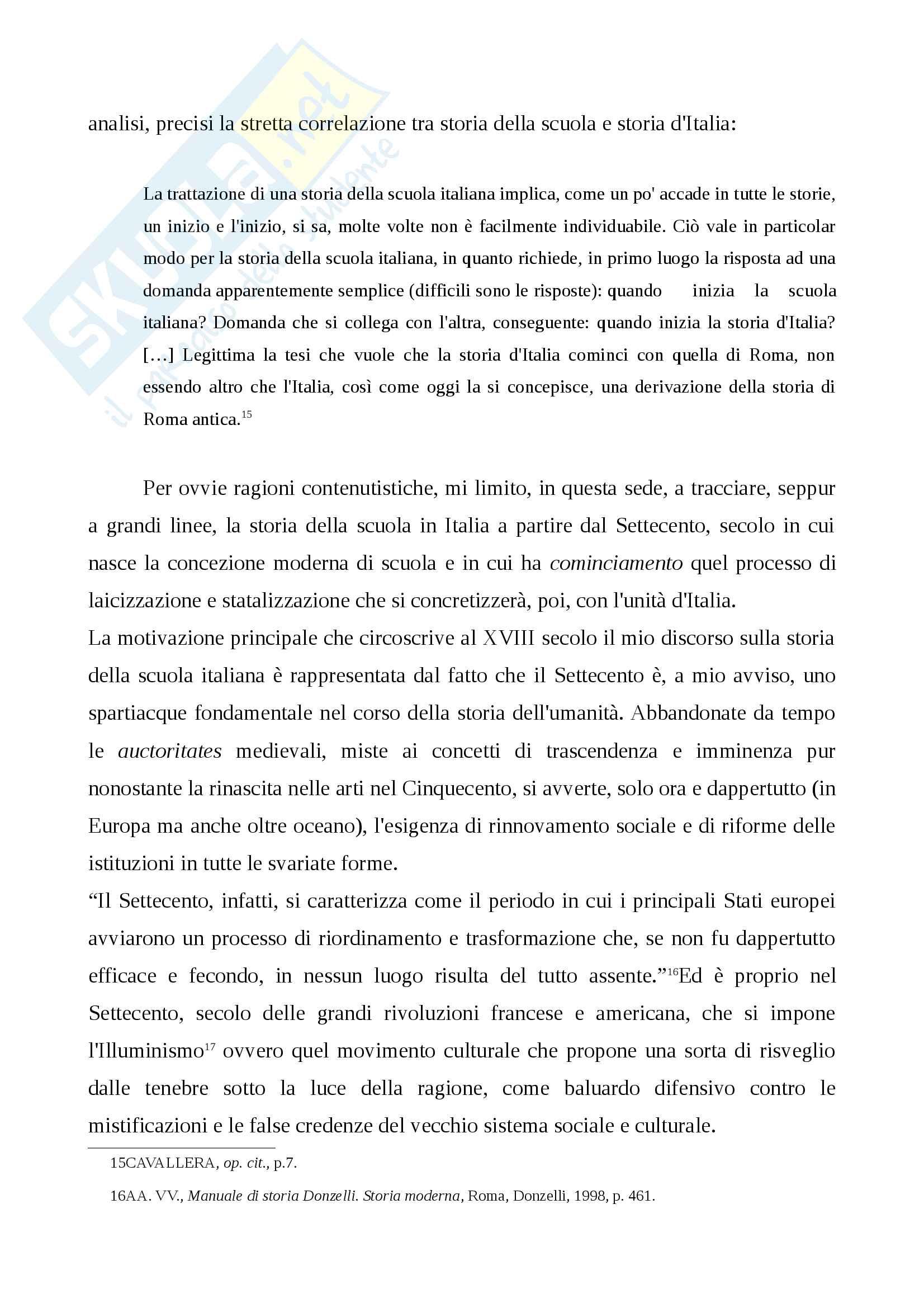 Storia della scuola italiana (legge Casati, Riforma Gentile) Pag. 6