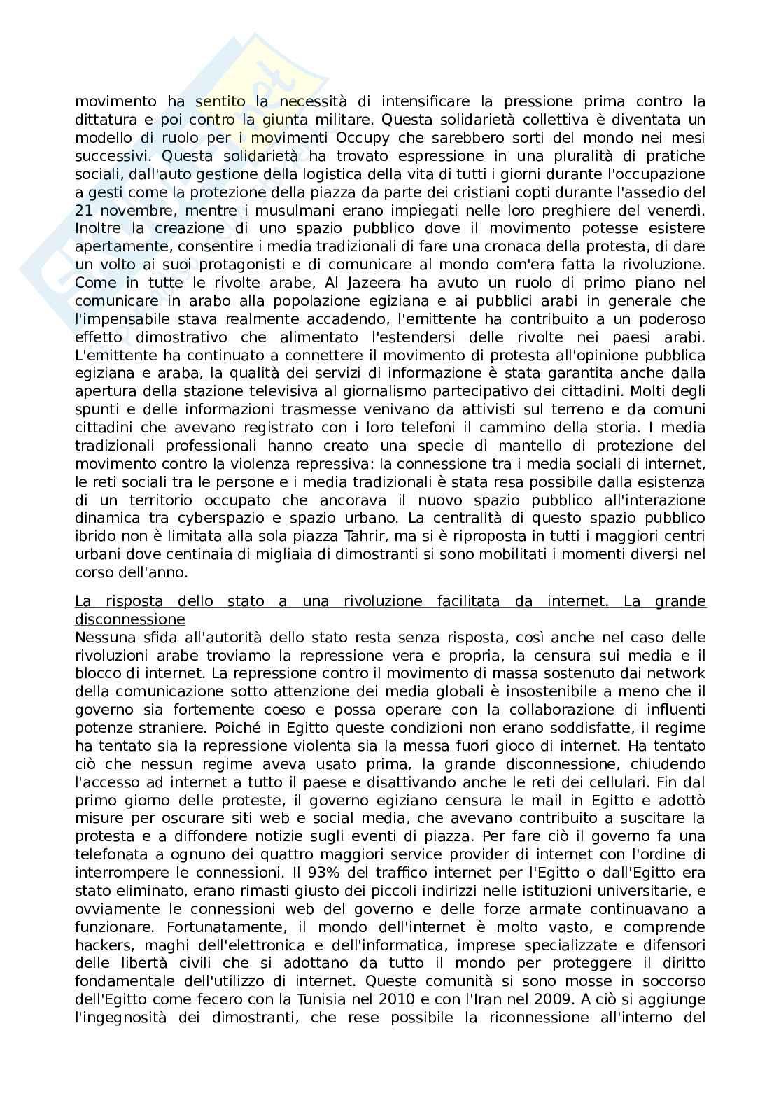 Riassunto esame comunicazione advocacy e consumo responsabile, prof. Binotto, libro consigliato Reti di indignazione e speranza movimenti sociali nell era di internet, Castells Pag. 11
