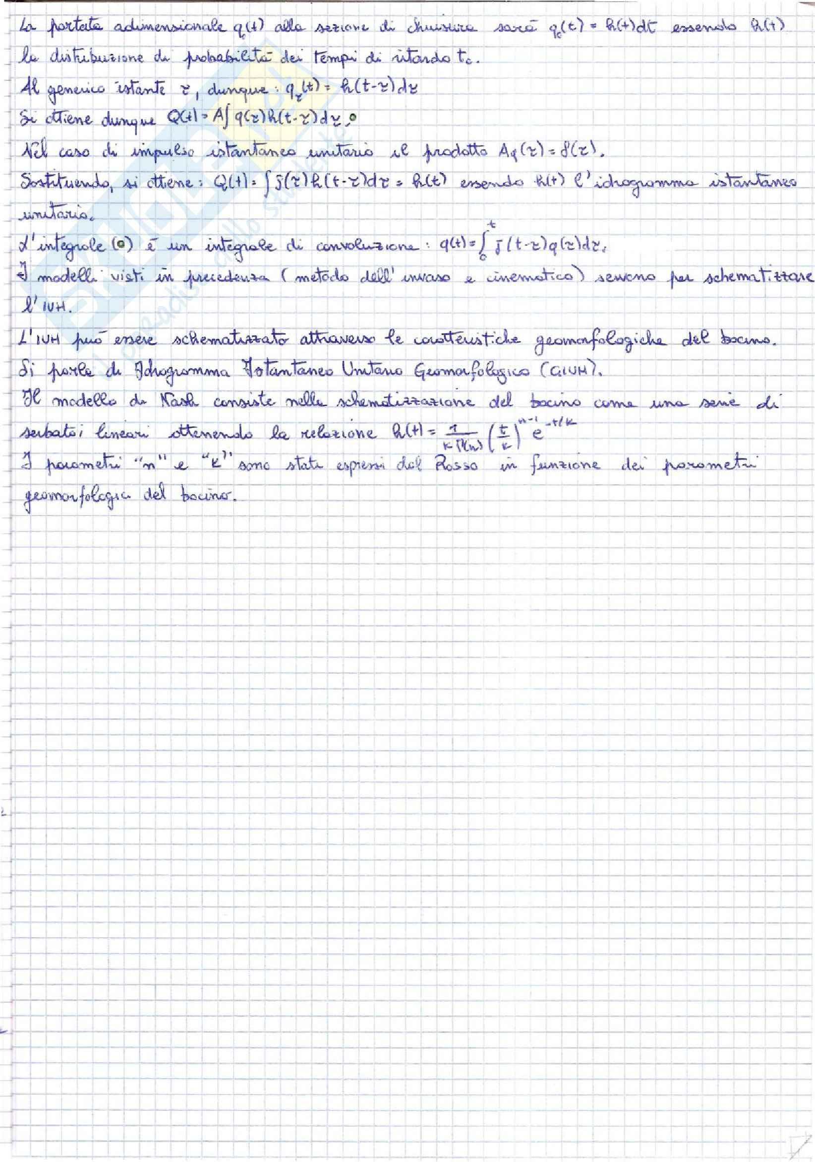 Idrologia e costruzioni idrauliche - appunti Pag. 11