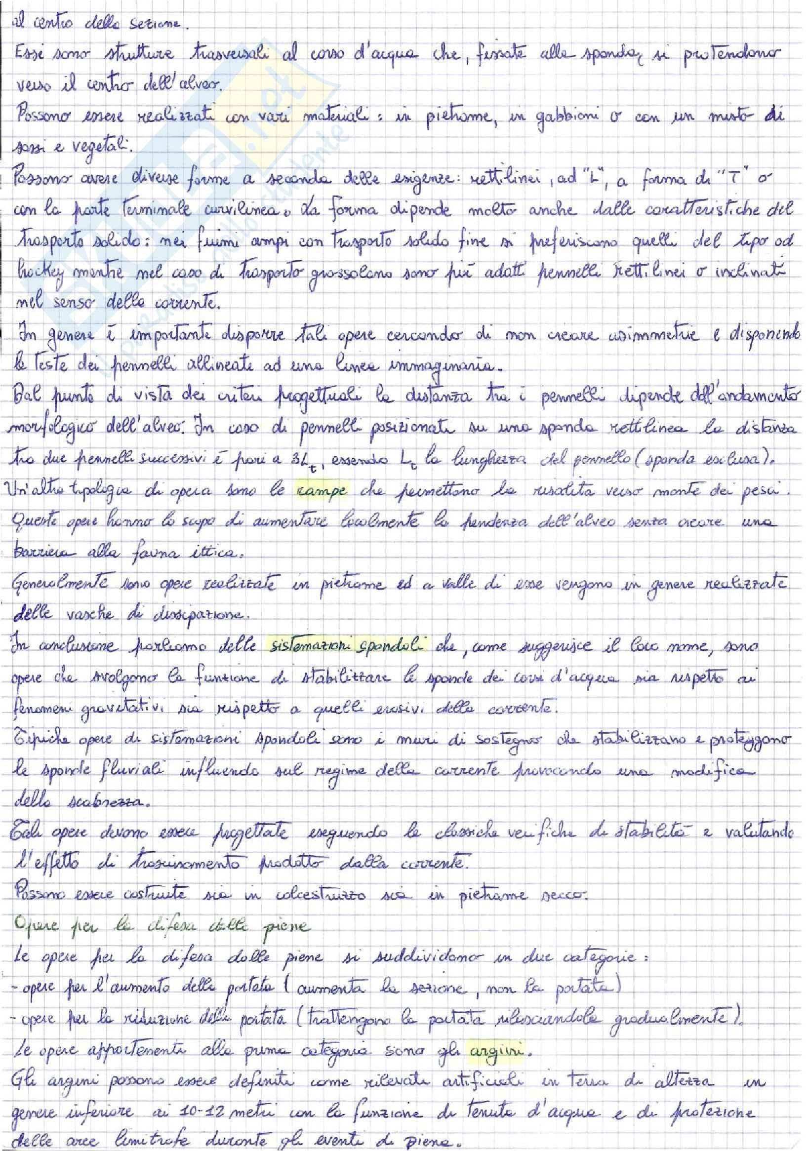 Idrologia e costruzioni idrauliche - appunti Pag. 16