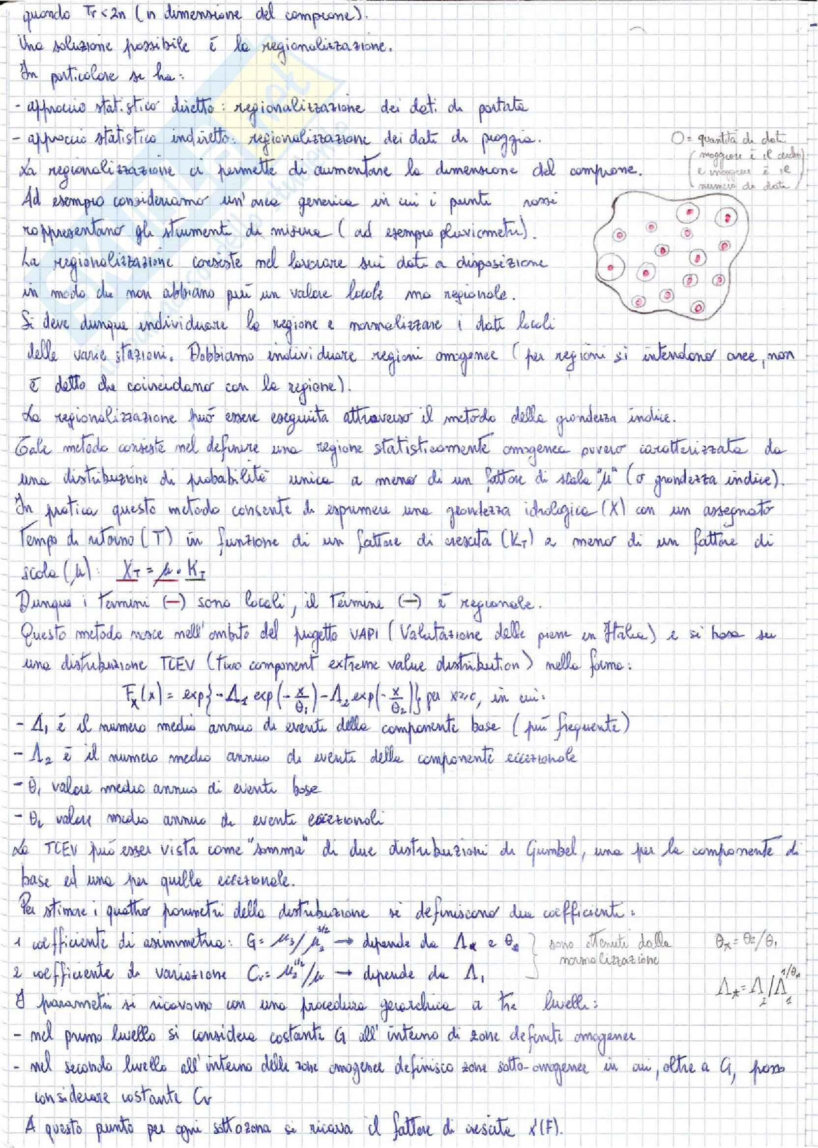 Idrologia e costruzioni idrauliche - appunti Pag. 6