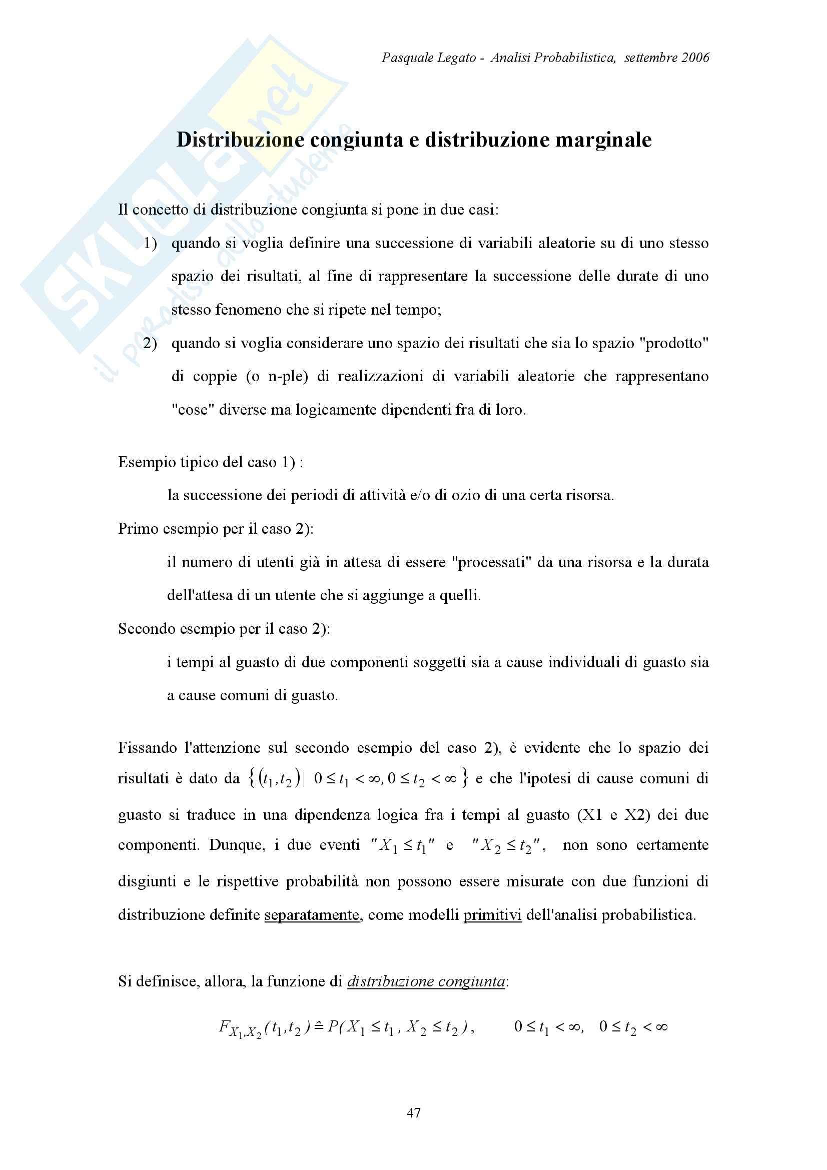 Analisi probabilistica - Appunti