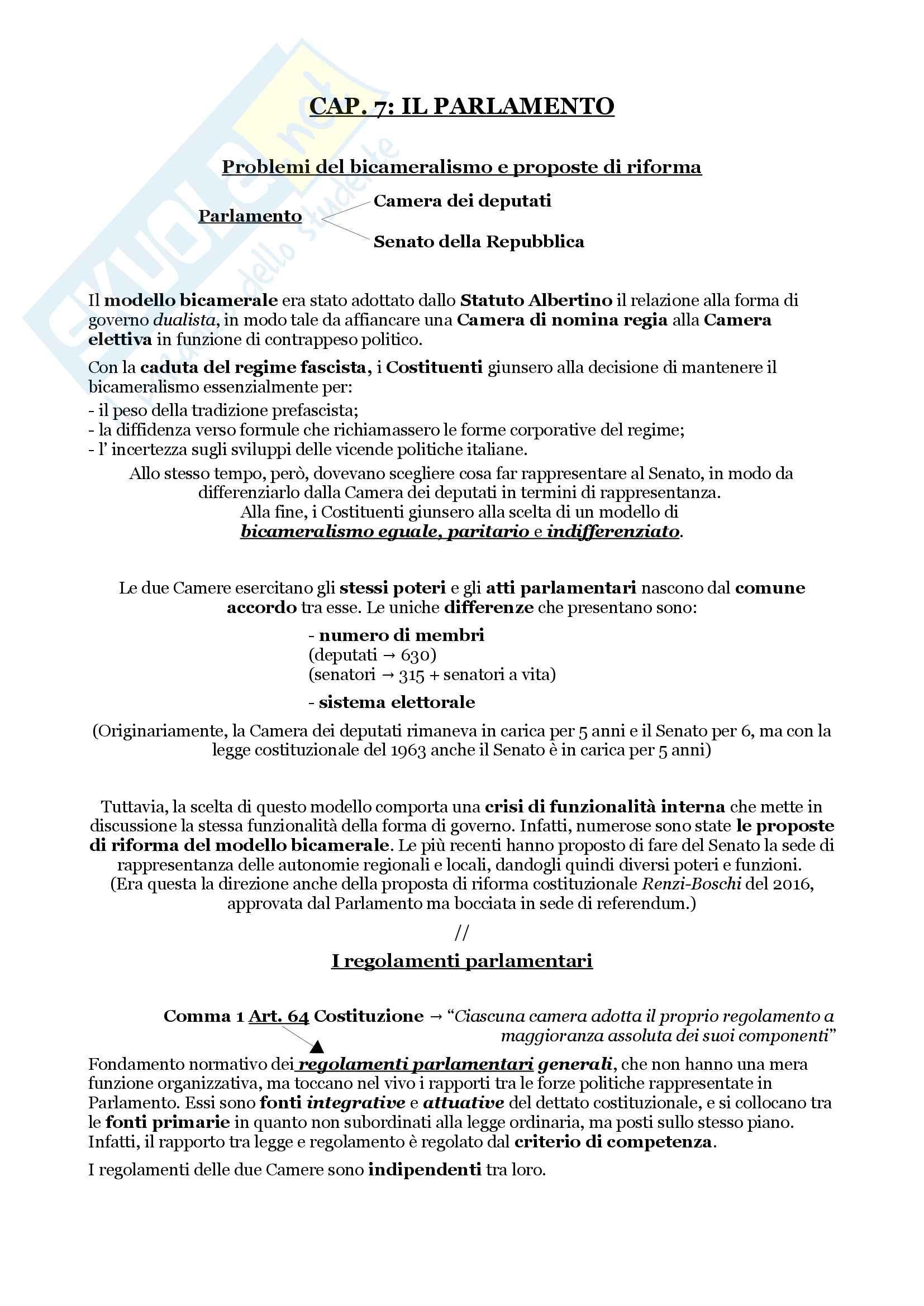 Schemi riassuntivi di istituzioni di diritto pubblico (libro di riferimento: Diritto costituzionale e pubblico, Carretti, De Siervo)