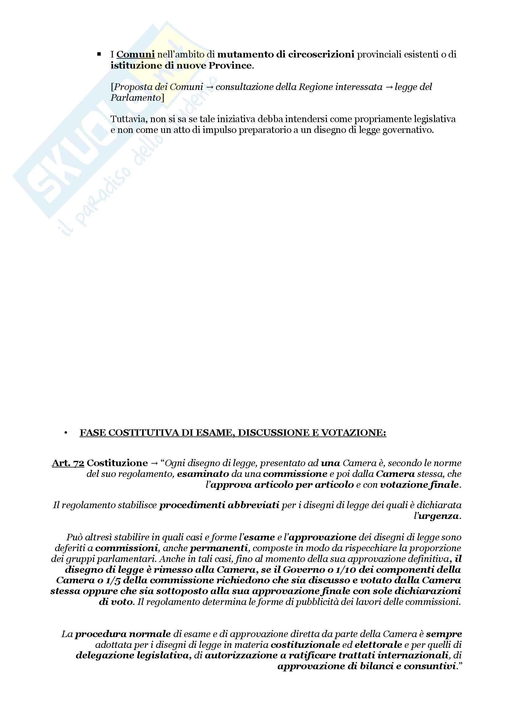 Schemi riassuntivi di istituzioni di diritto pubblico (libro di riferimento: Diritto costituzionale e pubblico, Carretti, De Siervo) Pag. 11