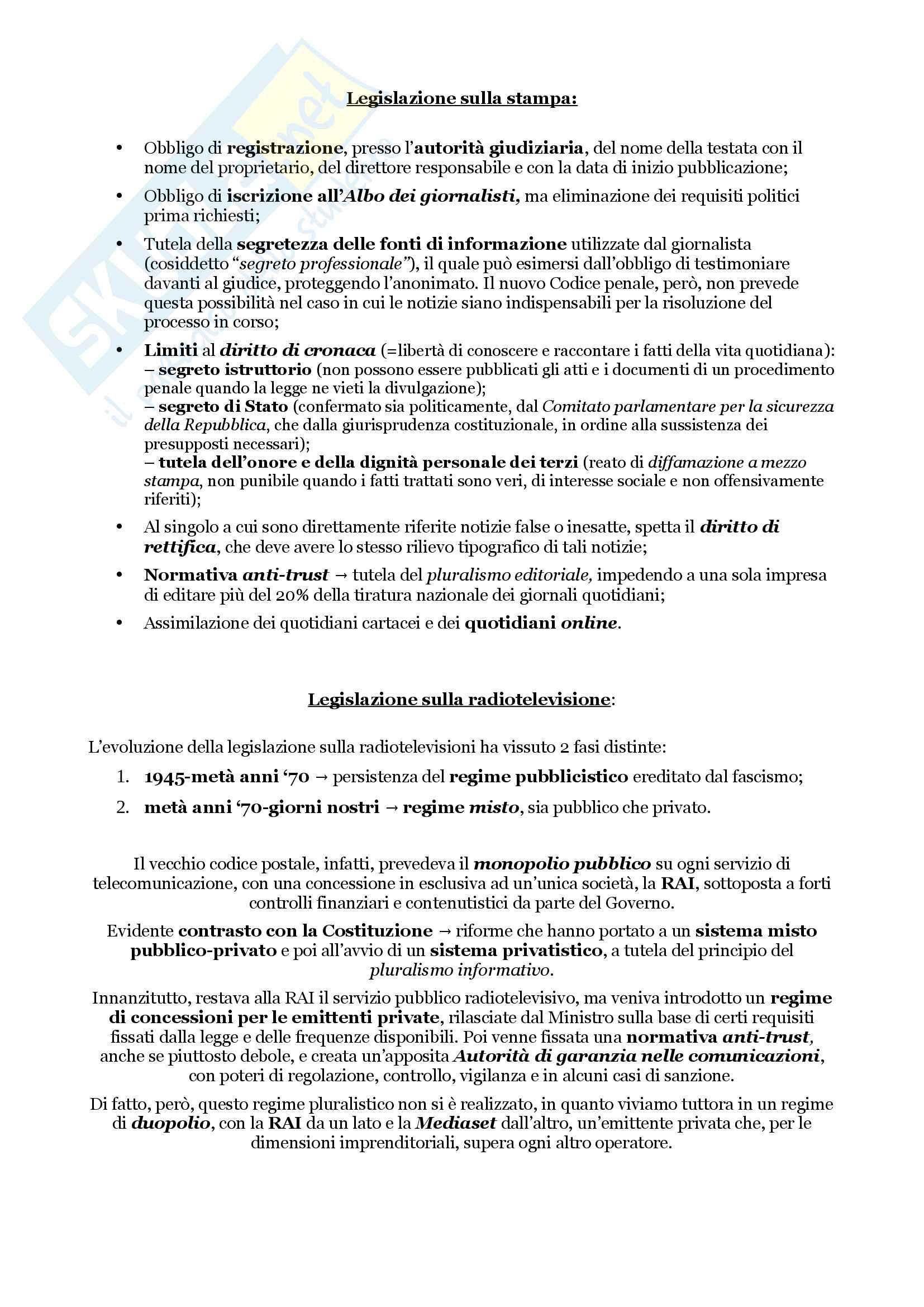 Schemi riassuntivi di istituzioni di diritto pubblico (libro di riferimento: Diritto costituzionale e pubblico, Carretti, De Siervo) Pag. 116