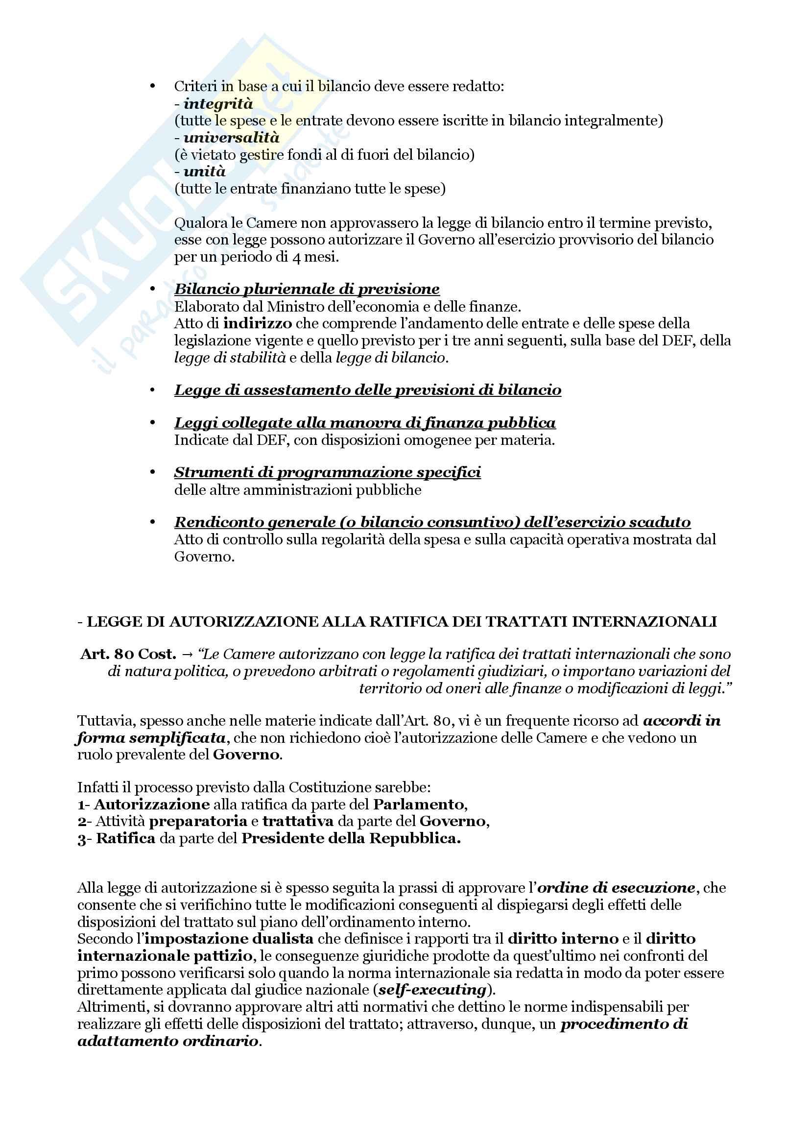 Schemi riassuntivi di istituzioni di diritto pubblico (libro di riferimento: Diritto costituzionale e pubblico, Carretti, De Siervo) Pag. 16