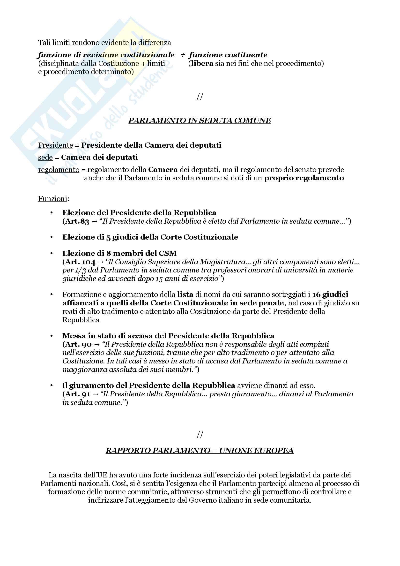 Schemi riassuntivi di istituzioni di diritto pubblico (libro di riferimento: Diritto costituzionale e pubblico, Carretti, De Siervo) Pag. 21