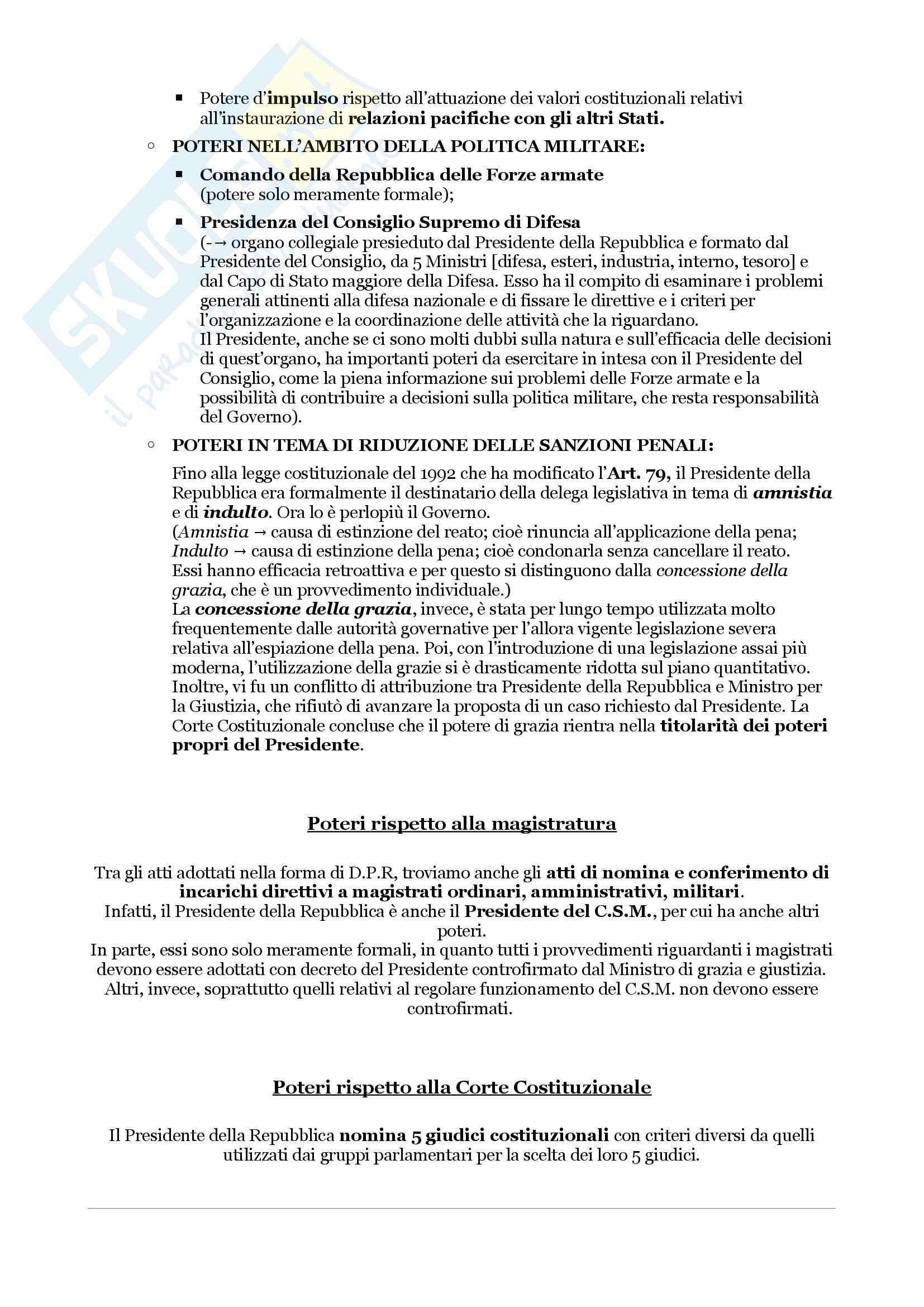 Schemi riassuntivi di istituzioni di diritto pubblico (libro di riferimento: Diritto costituzionale e pubblico, Carretti, De Siervo) Pag. 31