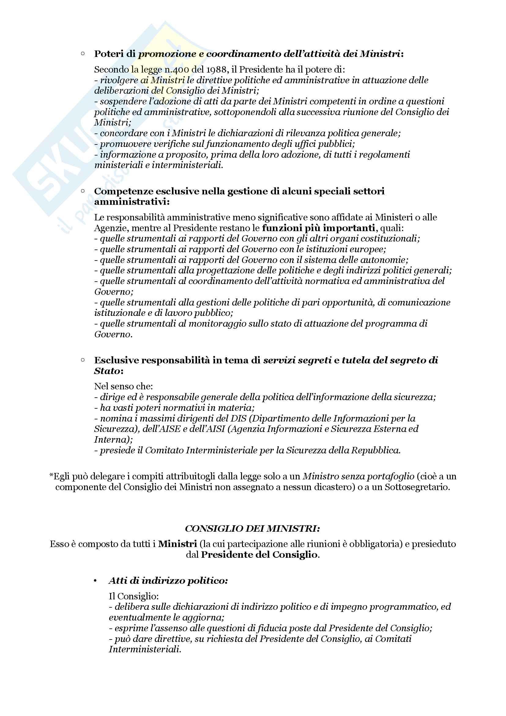Schemi riassuntivi di istituzioni di diritto pubblico (libro di riferimento: Diritto costituzionale e pubblico, Carretti, De Siervo) Pag. 36