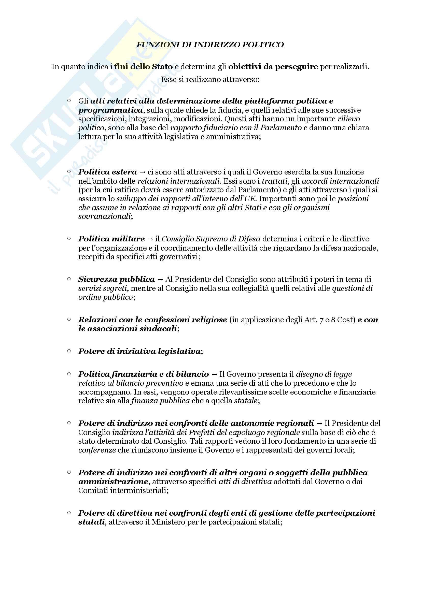 Schemi riassuntivi di istituzioni di diritto pubblico (libro di riferimento: Diritto costituzionale e pubblico, Carretti, De Siervo) Pag. 41