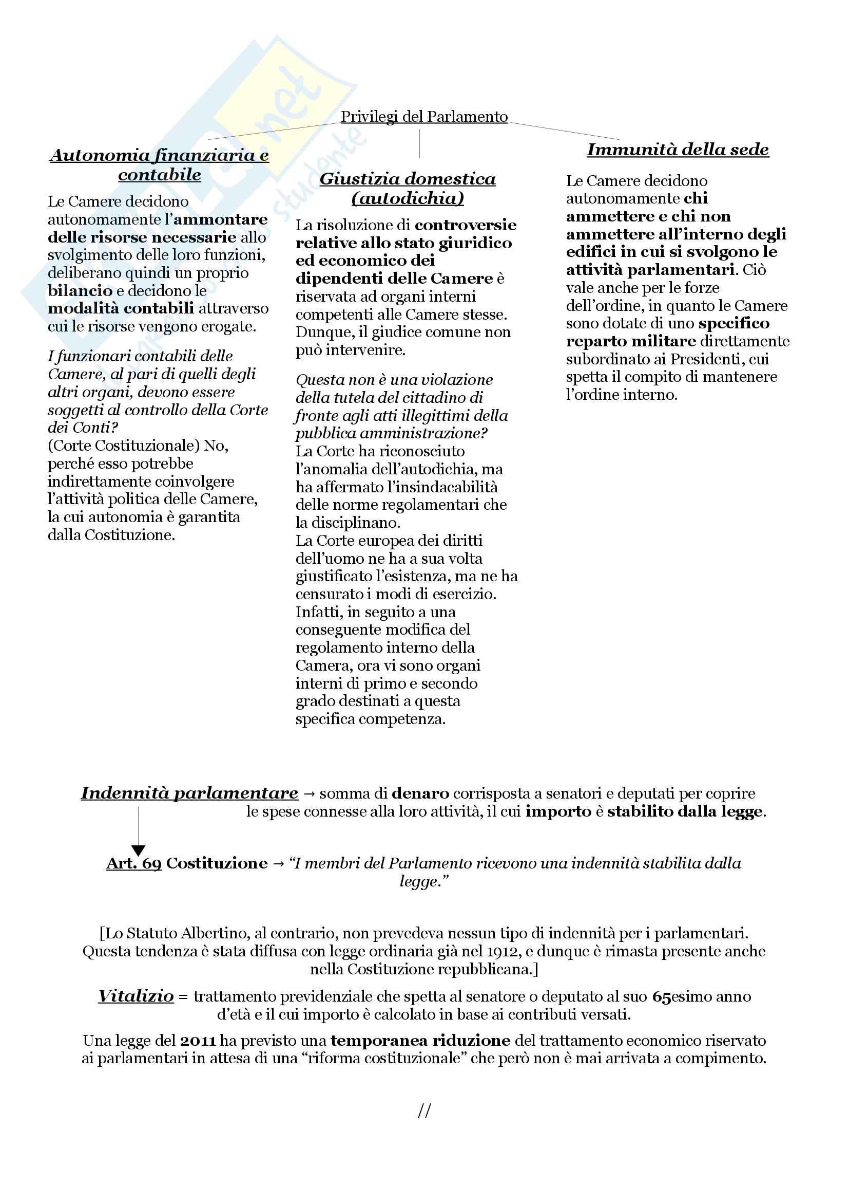 Schemi riassuntivi di istituzioni di diritto pubblico (libro di riferimento: Diritto costituzionale e pubblico, Carretti, De Siervo) Pag. 6