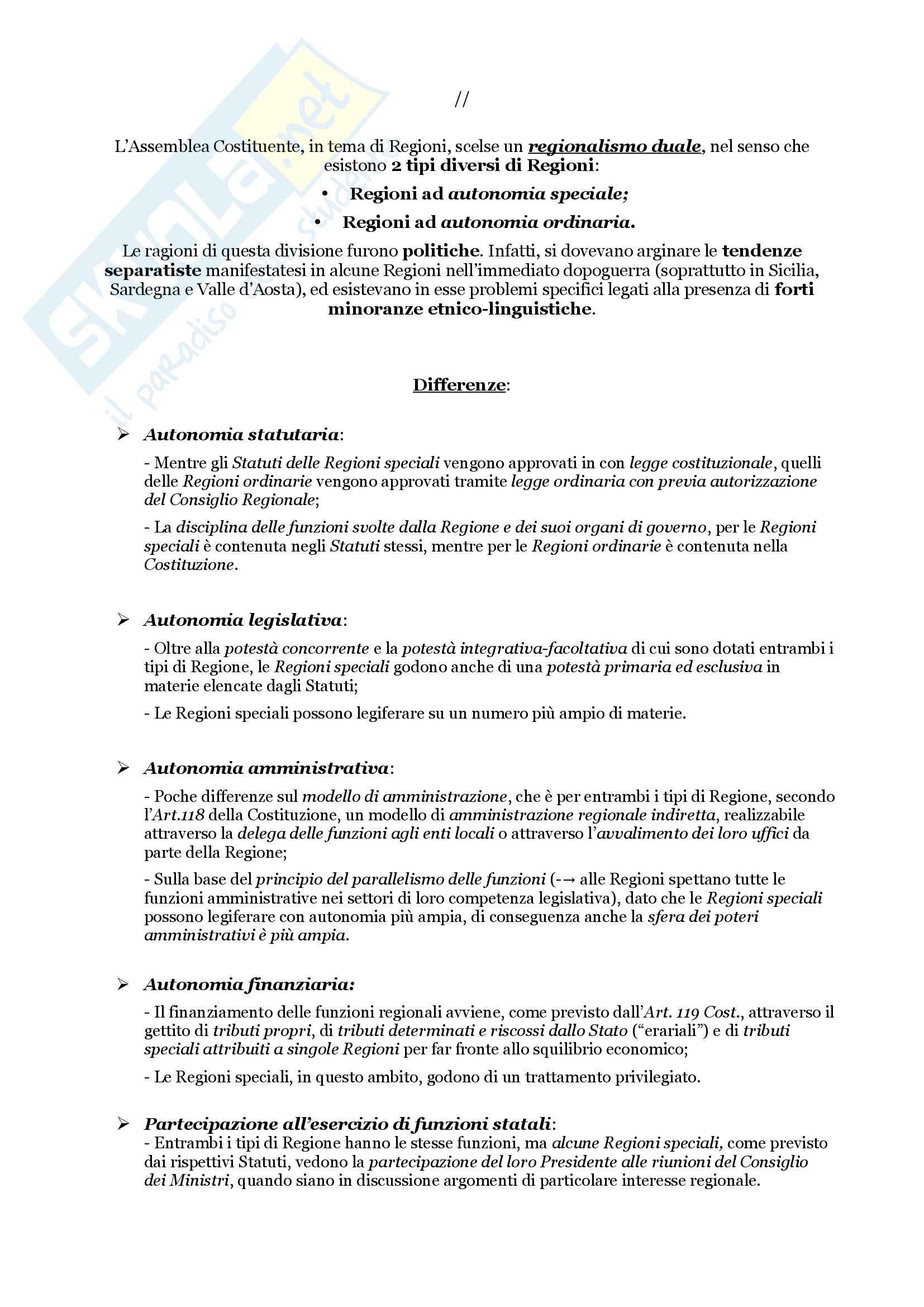 Schemi riassuntivi di istituzioni di diritto pubblico (libro di riferimento: Diritto costituzionale e pubblico, Carretti, De Siervo) Pag. 61