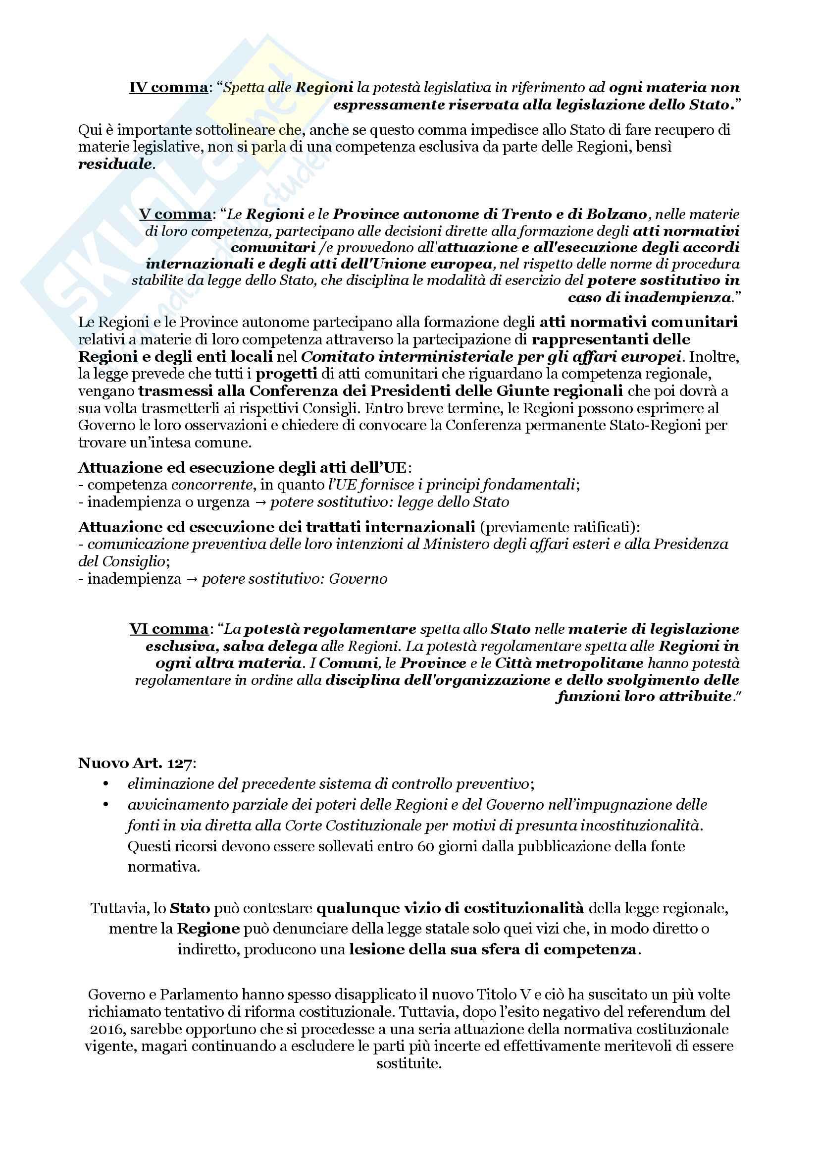 Schemi riassuntivi di istituzioni di diritto pubblico (libro di riferimento: Diritto costituzionale e pubblico, Carretti, De Siervo) Pag. 71