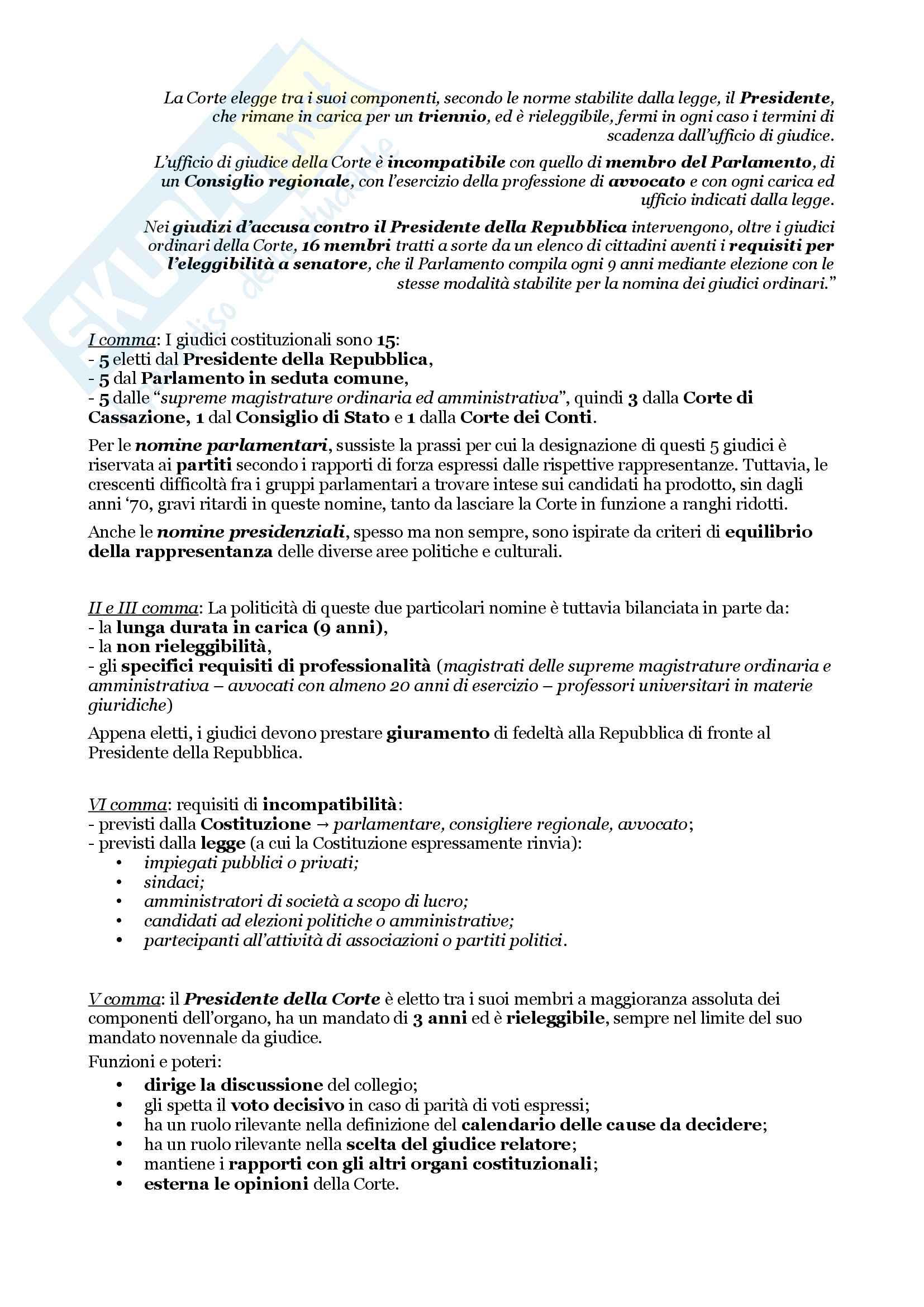 Schemi riassuntivi di istituzioni di diritto pubblico (libro di riferimento: Diritto costituzionale e pubblico, Carretti, De Siervo) Pag. 81