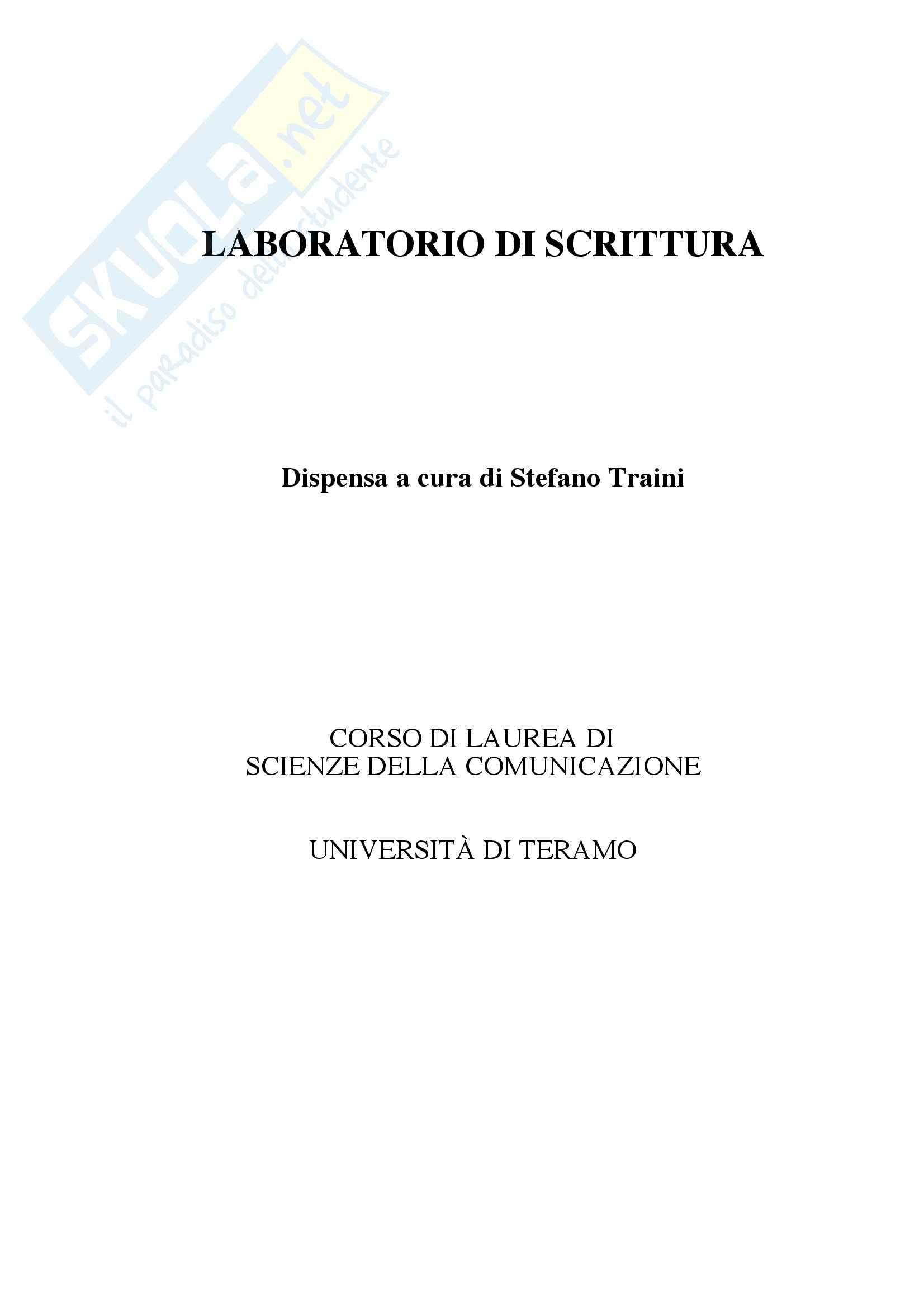 Laboratorio di scrittura italiana - la buona scrittura
