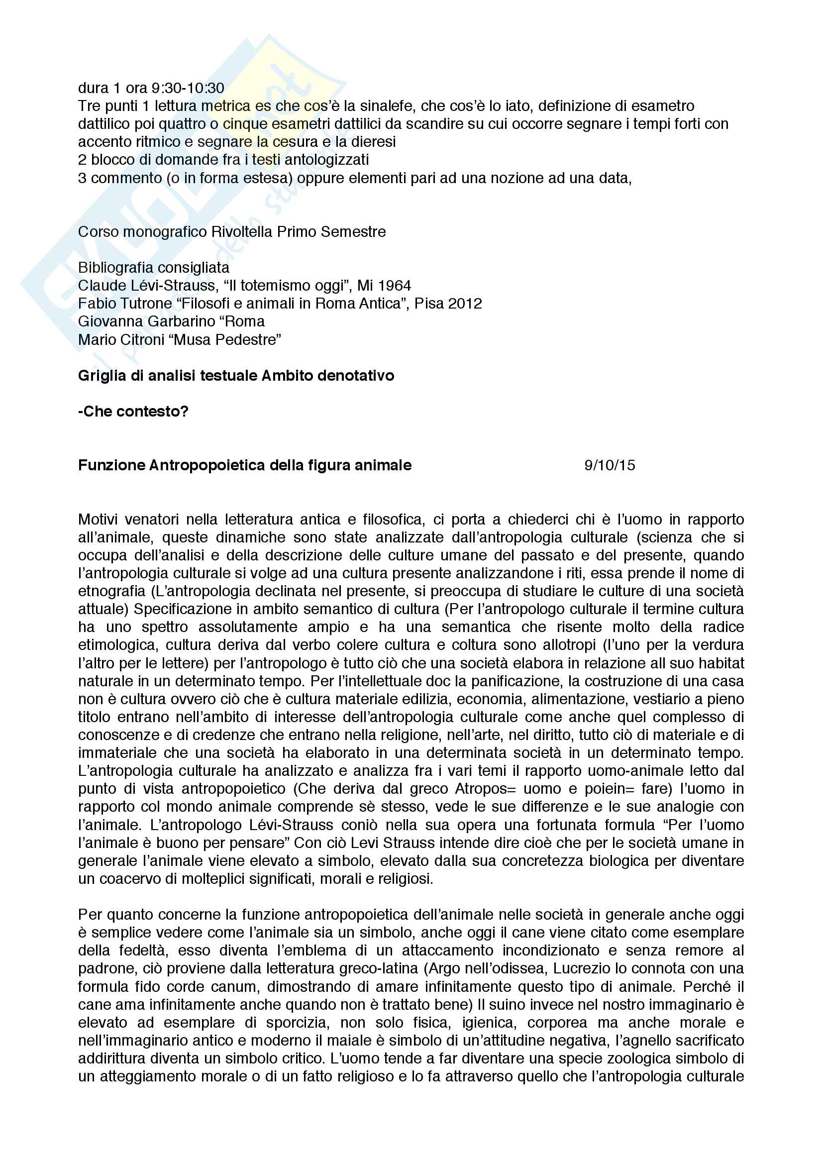 Appunti completi primo semestre letteratura latina:i filosofi alla caccia: I'età repubblicana (letture da Varrone, Lucrezio, Cicerone)