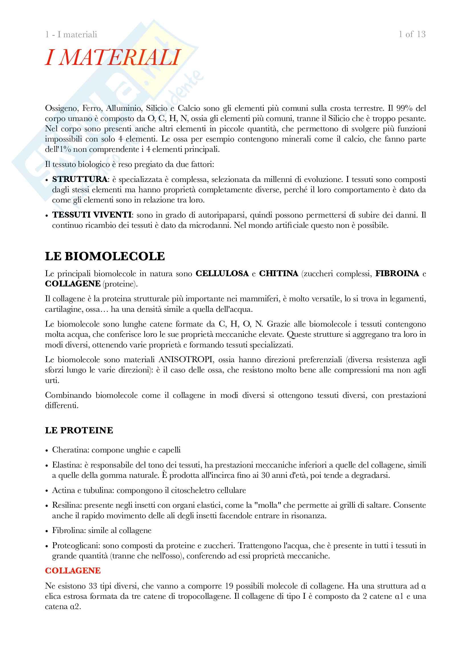 Appunti di biomeccanica, prof. Redaelli