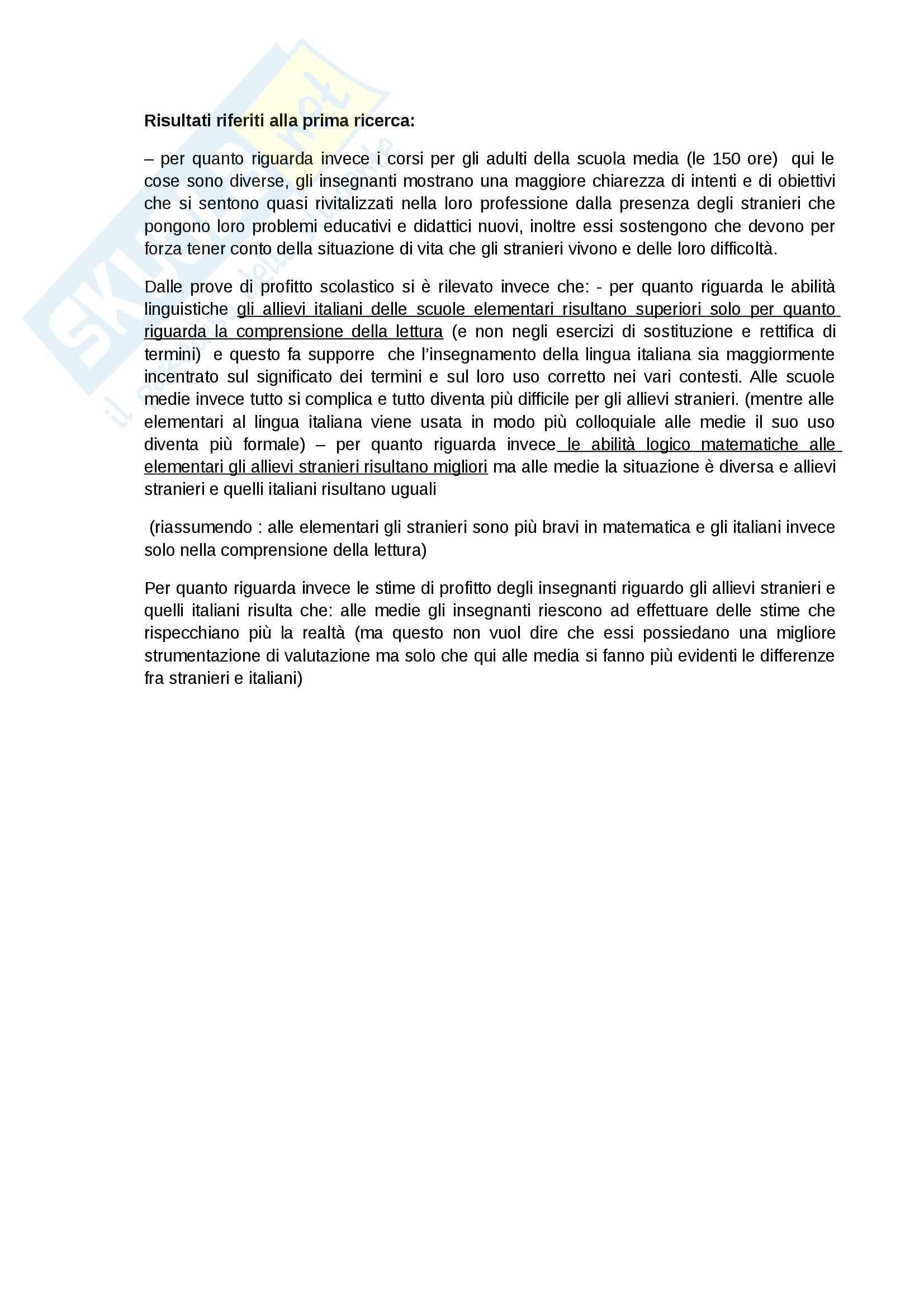 Riassunto esame Pedagogia interculturale, prof. Fiorucci, libro consigliato L'interculturalità possibile, Susi Pag. 6