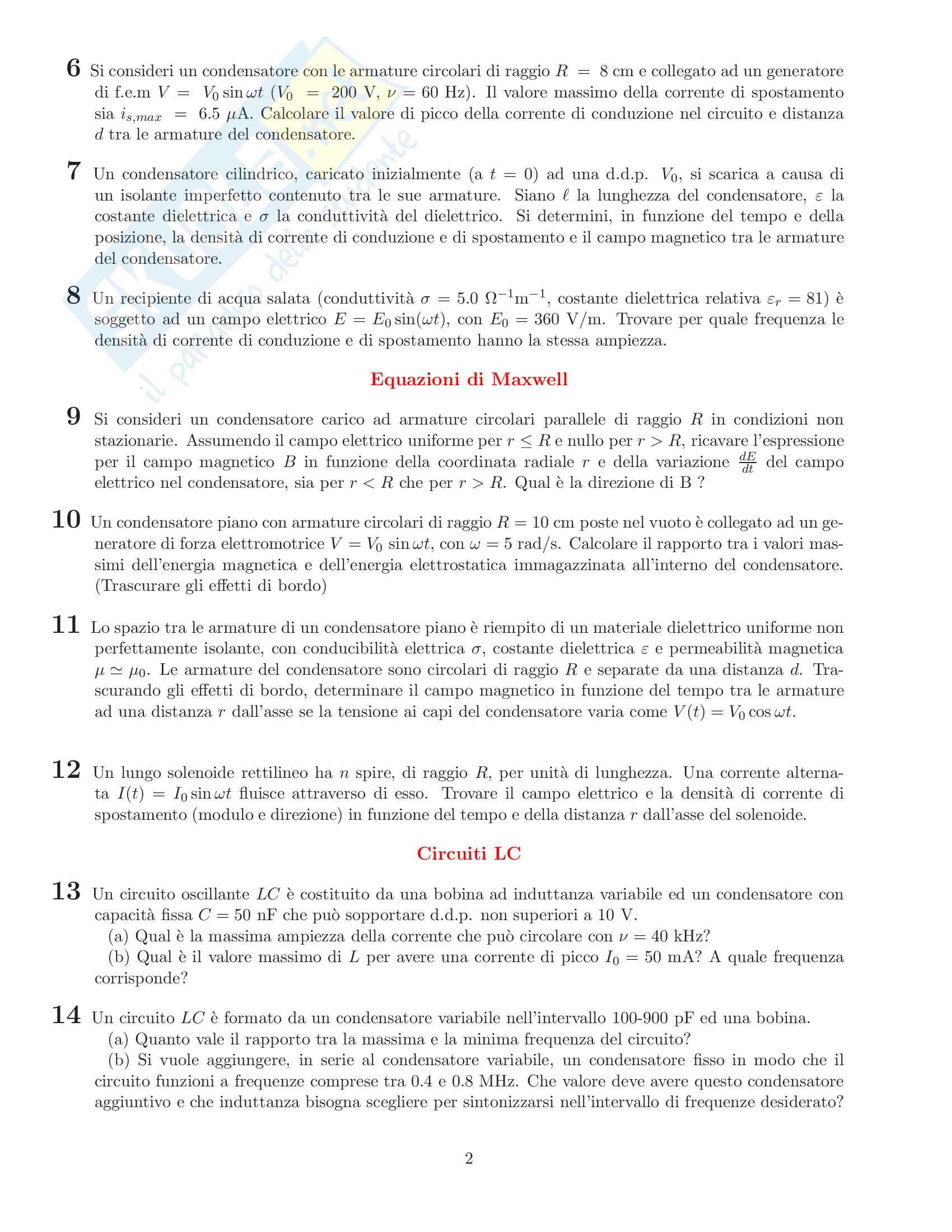 Esercizi RLC Pag. 2