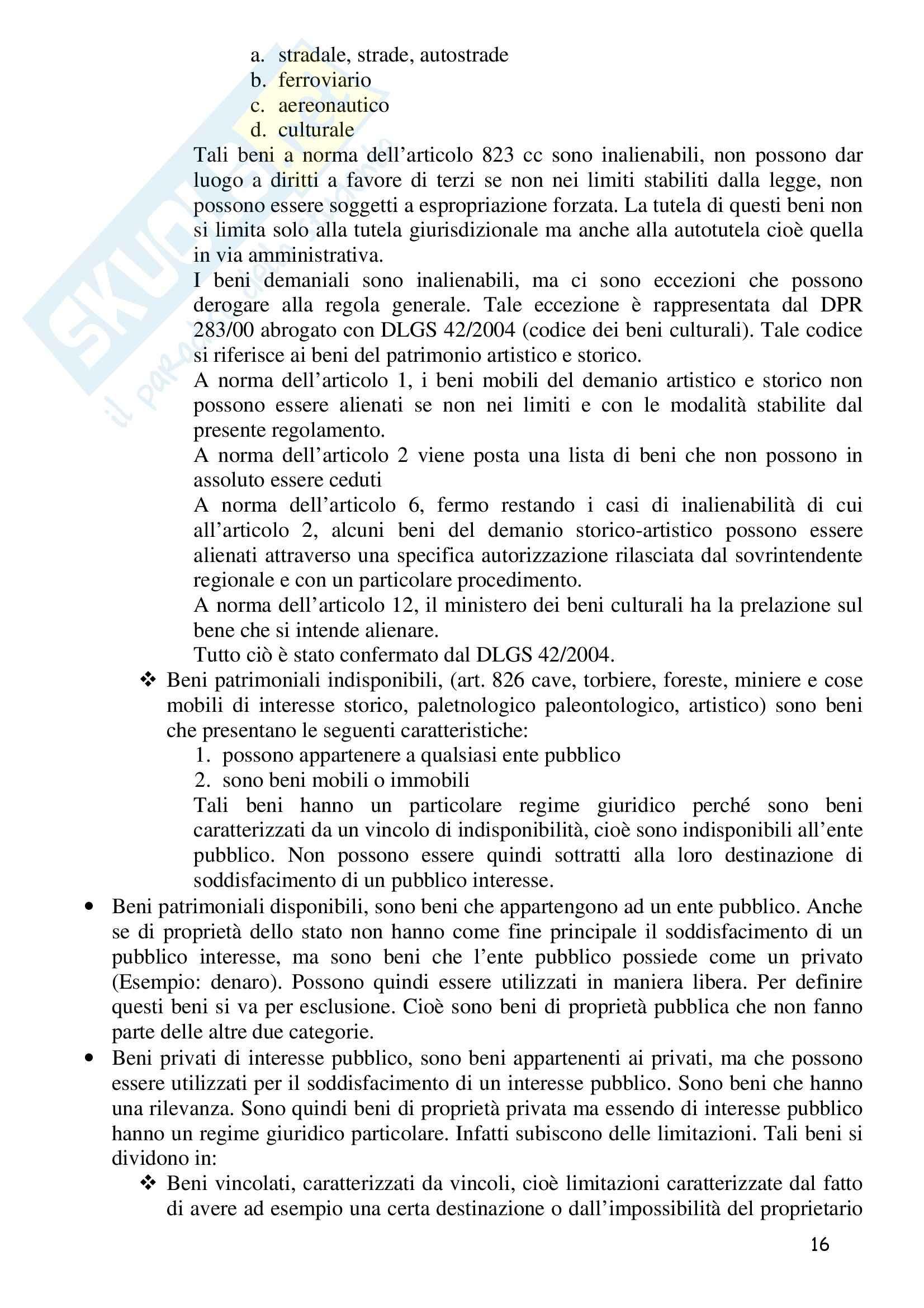 Riassunto esame Diritto Amministrativo 1, prof. Barone, libro consigliato Manuale di Diritto Amministrativo, Casetta Pag. 16