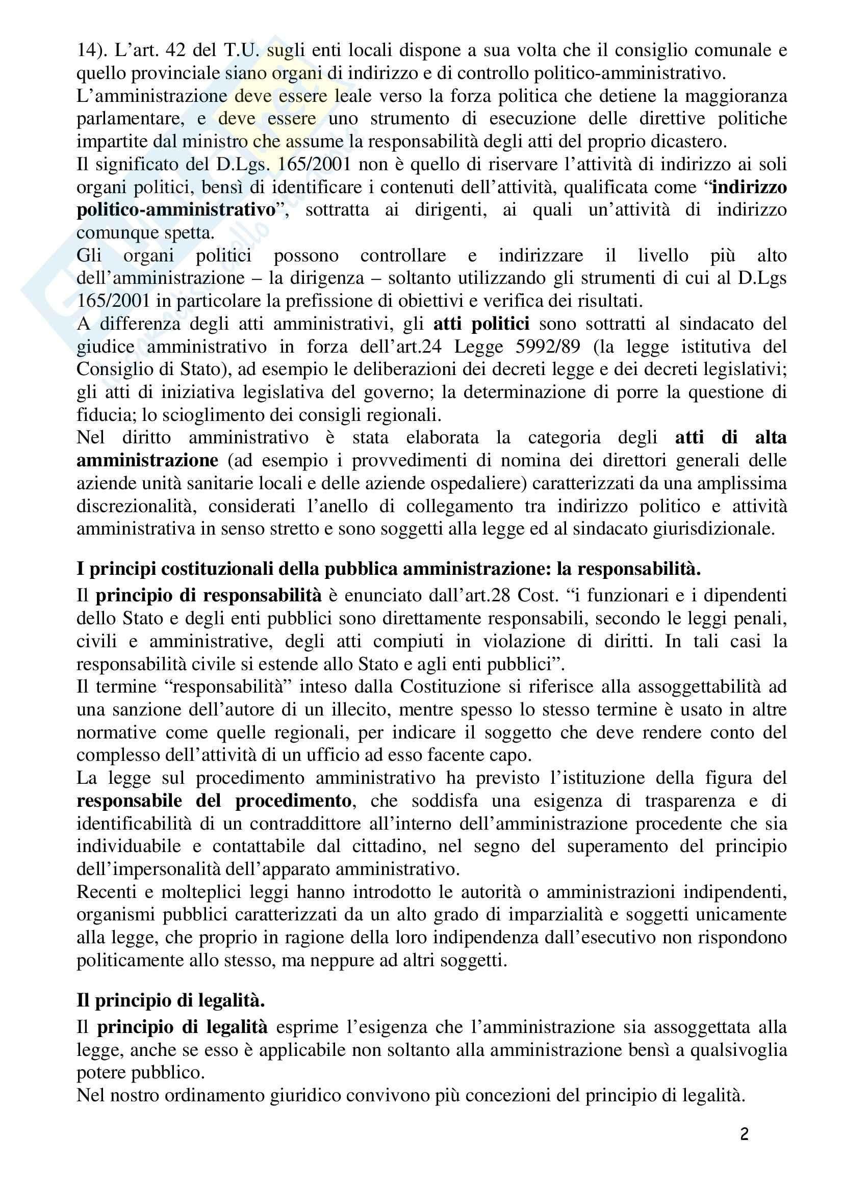 Riassunto esame Diritto Amministrativo 1, prof. Barone, libro consigliato Manuale di Diritto Amministrativo, Casetta Pag. 2