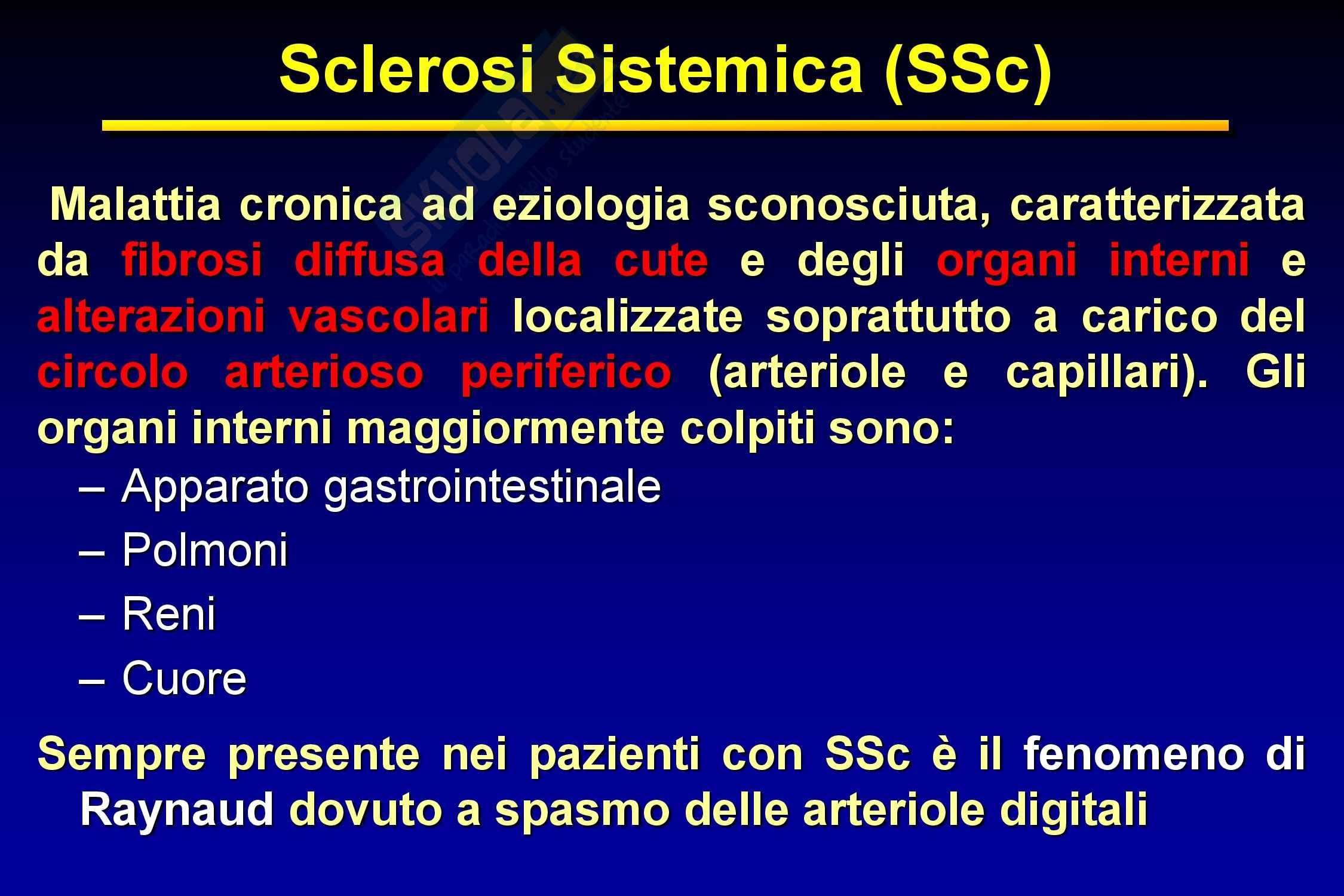 Malattie dell'apparato respiratorio - Sclerosi sistemica