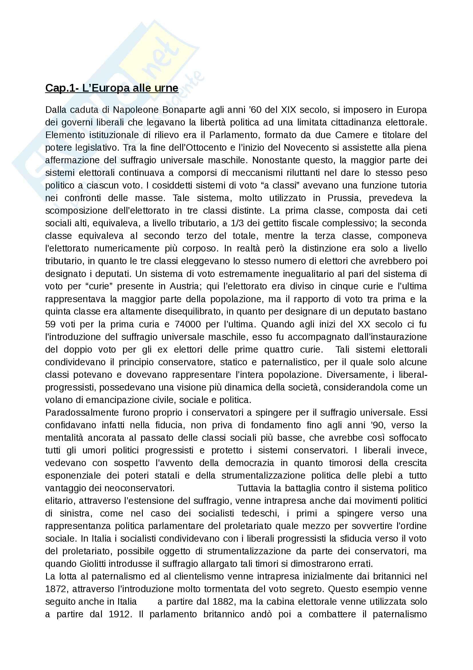 Riassunto esame Storia, prof. Chiavistelli, libro consigliato L'europa dall'Ottocento al Novecento, Meriggi