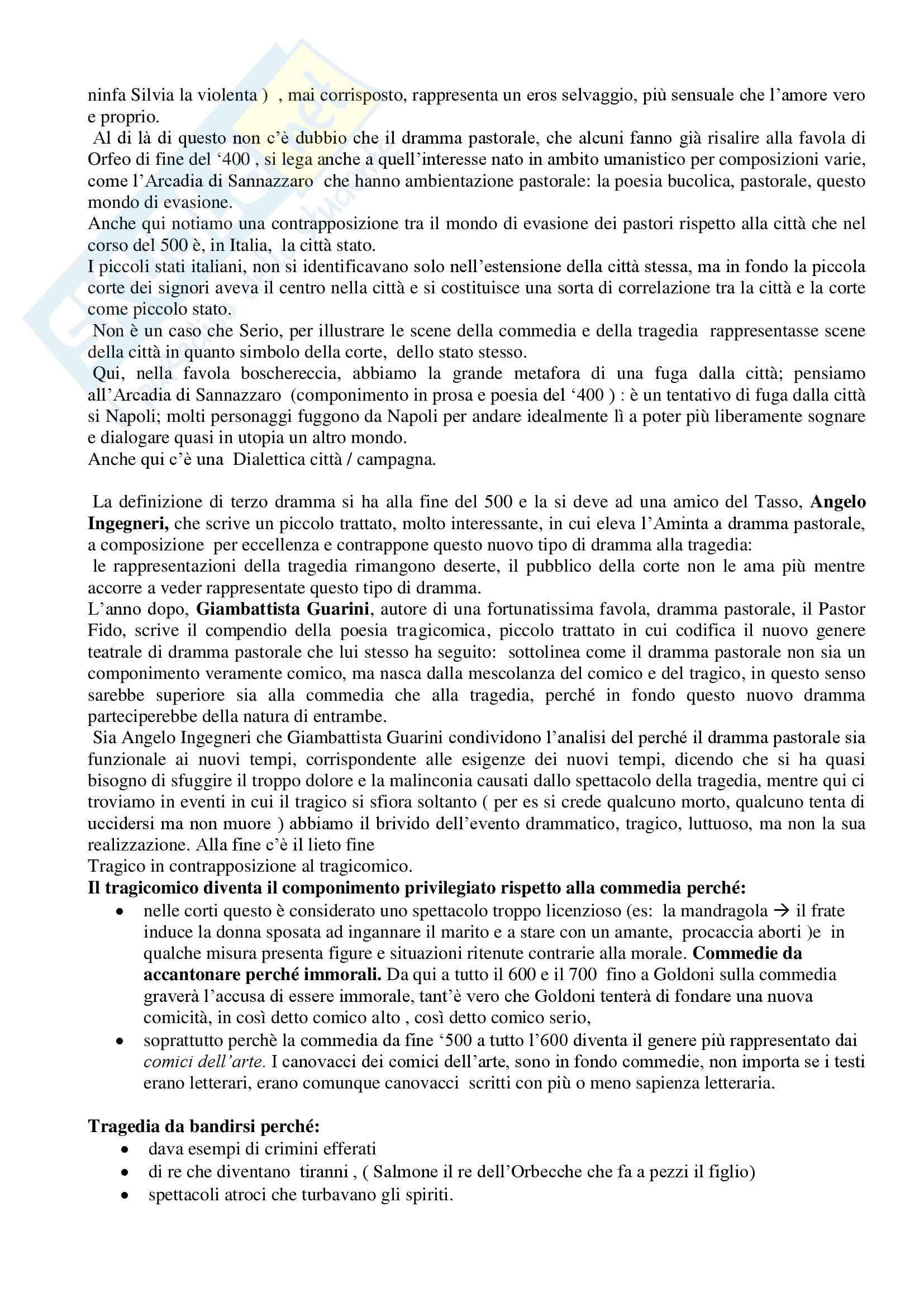 Letteratura teatrale italiana - Aminta Pag. 2