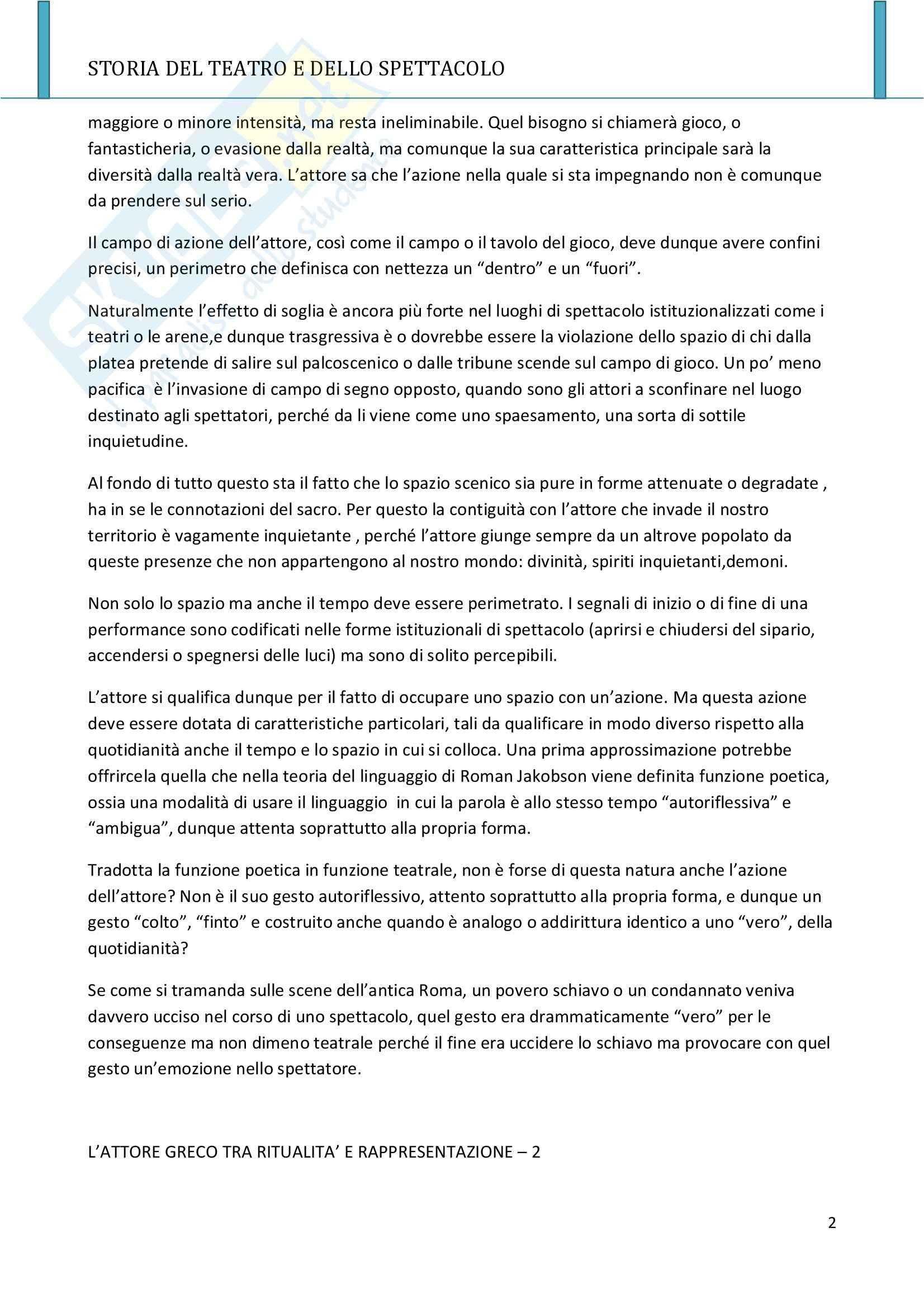Riassunto esame Storia del teatro e dello spettacolo, prof. Allegri, libro consigliato L'arte e il mestiere, Luigi Allegri Pag. 2