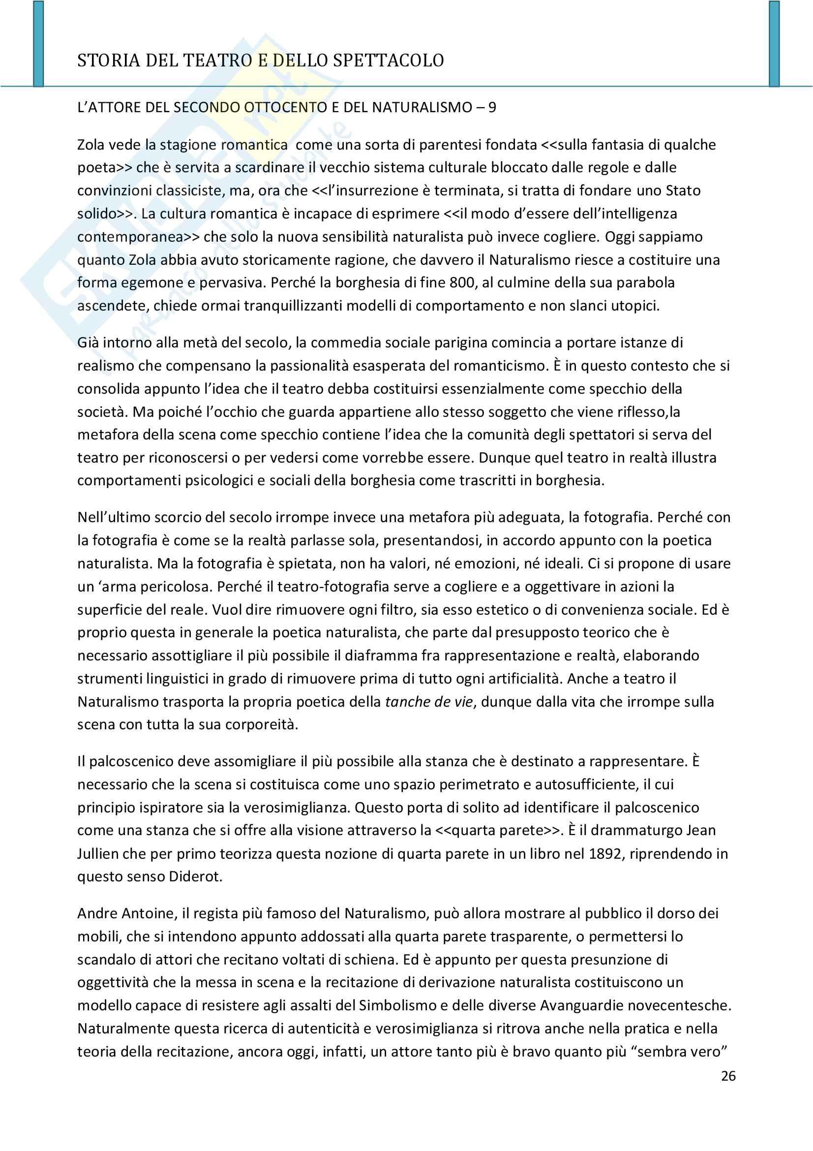 Riassunto esame Storia del teatro e dello spettacolo, prof. Allegri, libro consigliato L'arte e il mestiere, Luigi Allegri Pag. 26