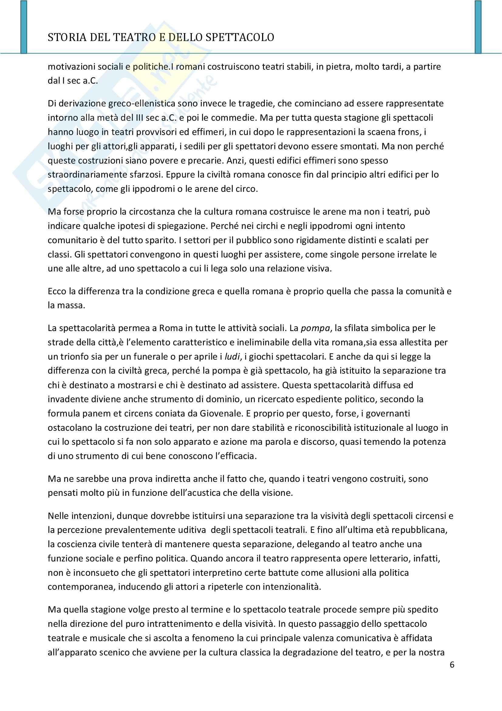 Riassunto esame Storia del teatro e dello spettacolo, prof. Allegri, libro consigliato L'arte e il mestiere, Luigi Allegri Pag. 6