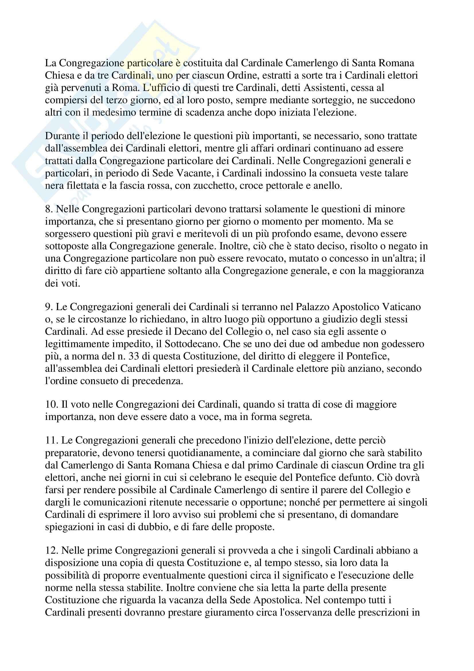 Papa - Norme per l'elezione Pag. 6