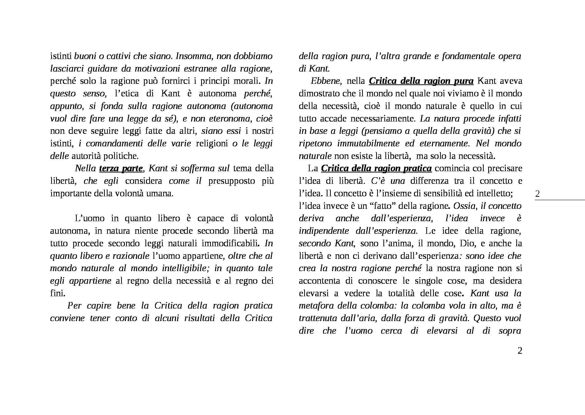 Critica della ragion pratica, Kant - Appunti Pag. 2